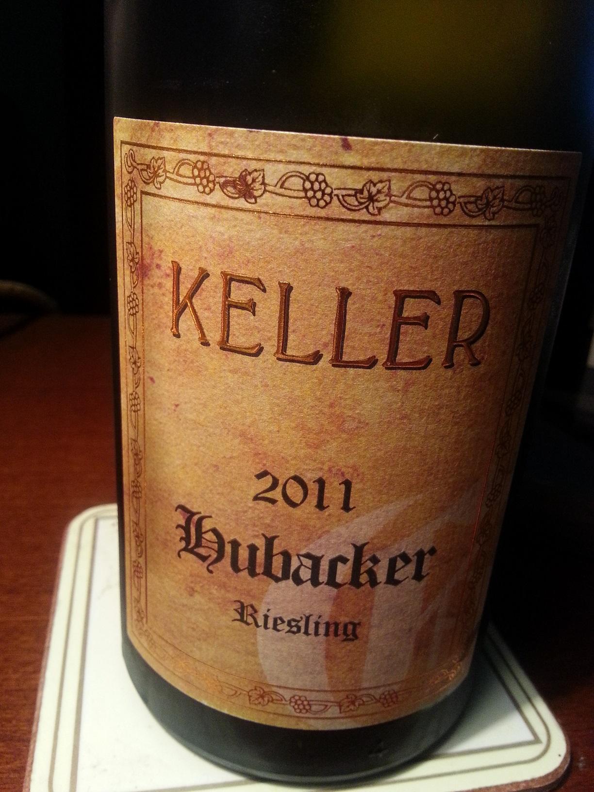 2011 Riesling Hubacker   Keller