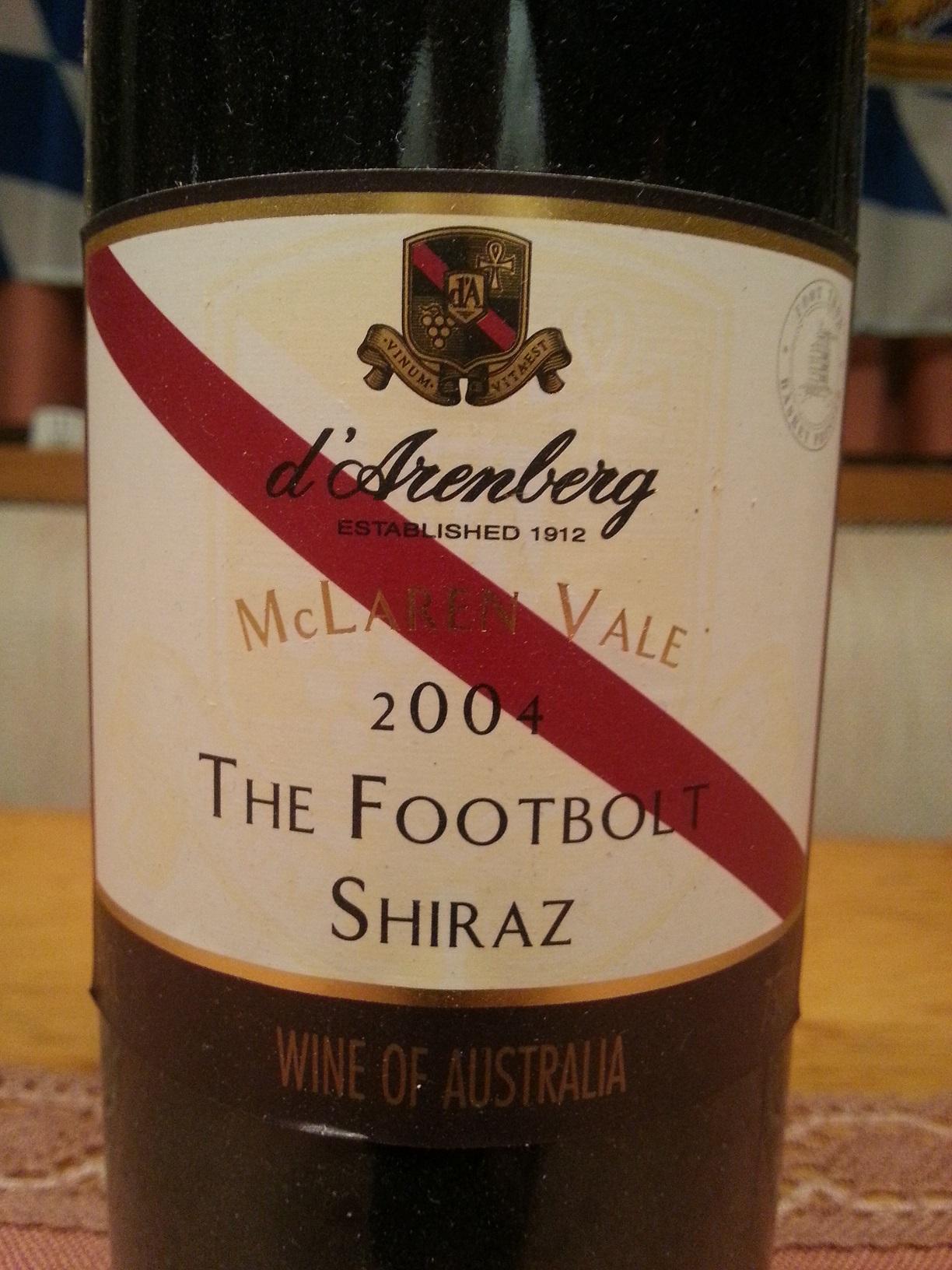 2004 The Footbolt Shiraz | d'Arenberg