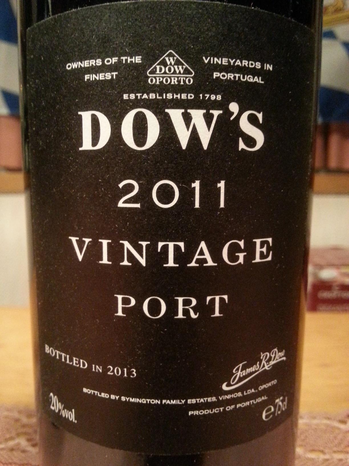 2011 Vintage Port   Dow's