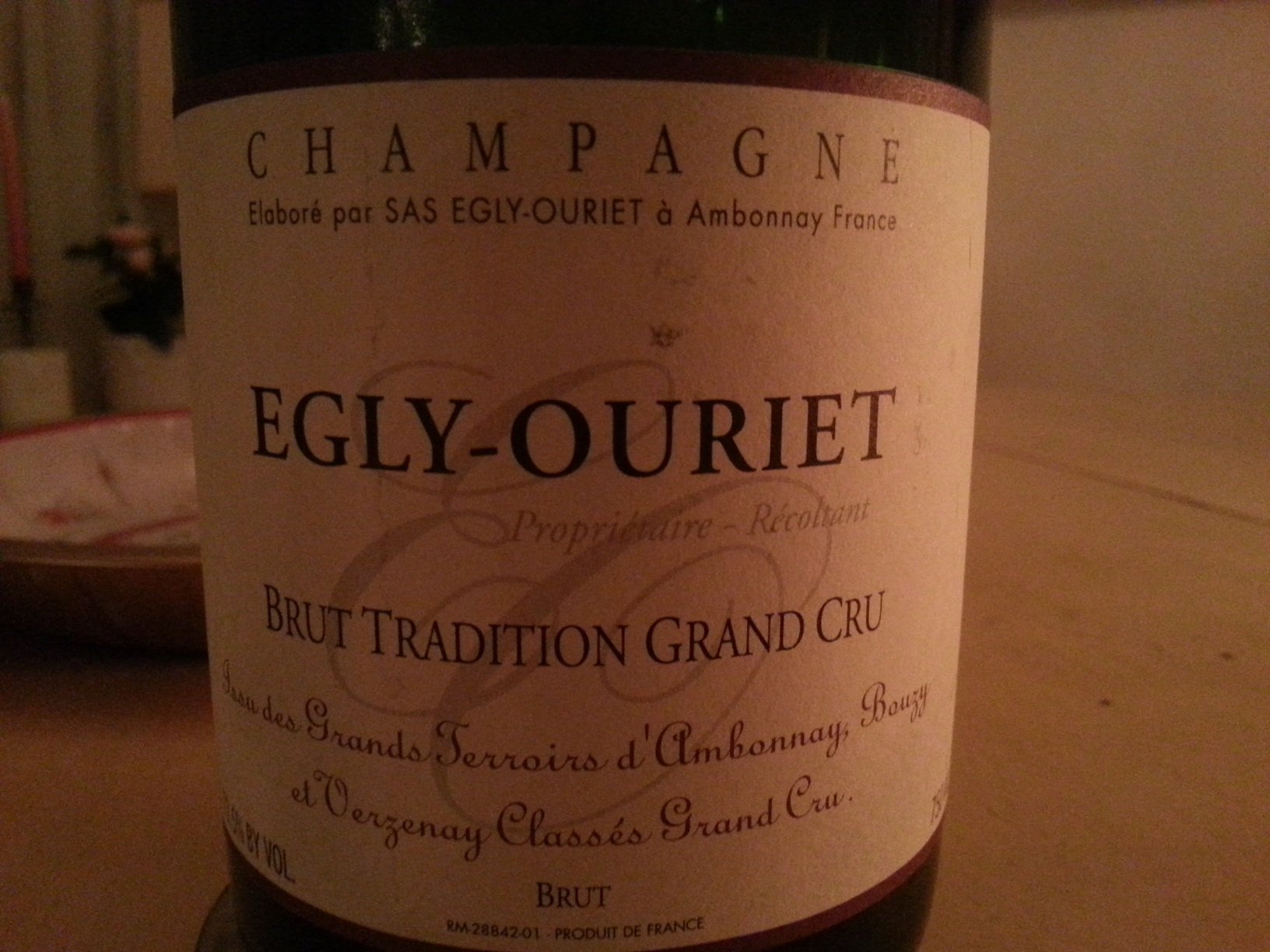 -nv- Champagne Brut Tradition   Egly-Ouriet