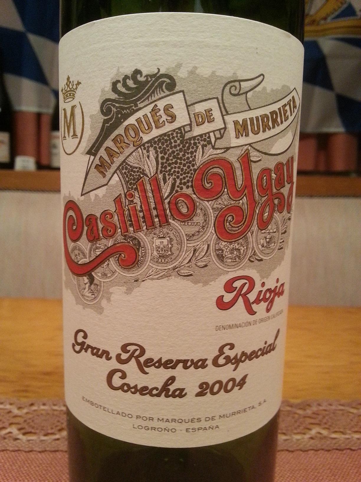 2004 Castillo Ygay Gran Reserva Especial | Marqués de Murrieta