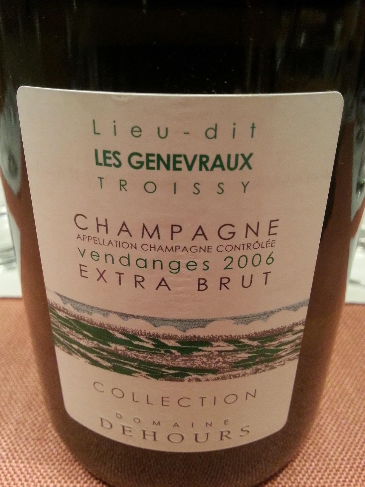 2006 Champagne Les Genevraux extra brut | Dehours