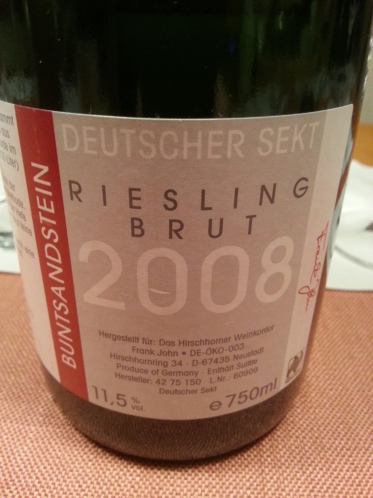 2008 Riesling Buntsandstein brut | Hirschhorner Hof