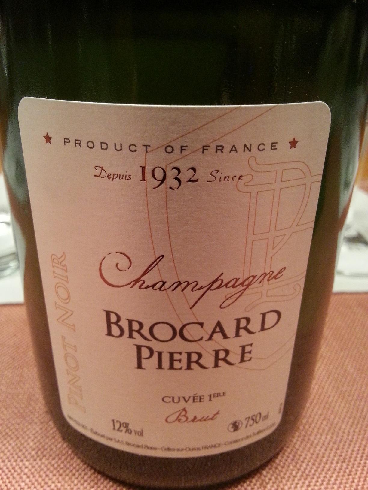 -nv- Champagne Blanc de Noirs Cuvée 1ère brut | Brocard