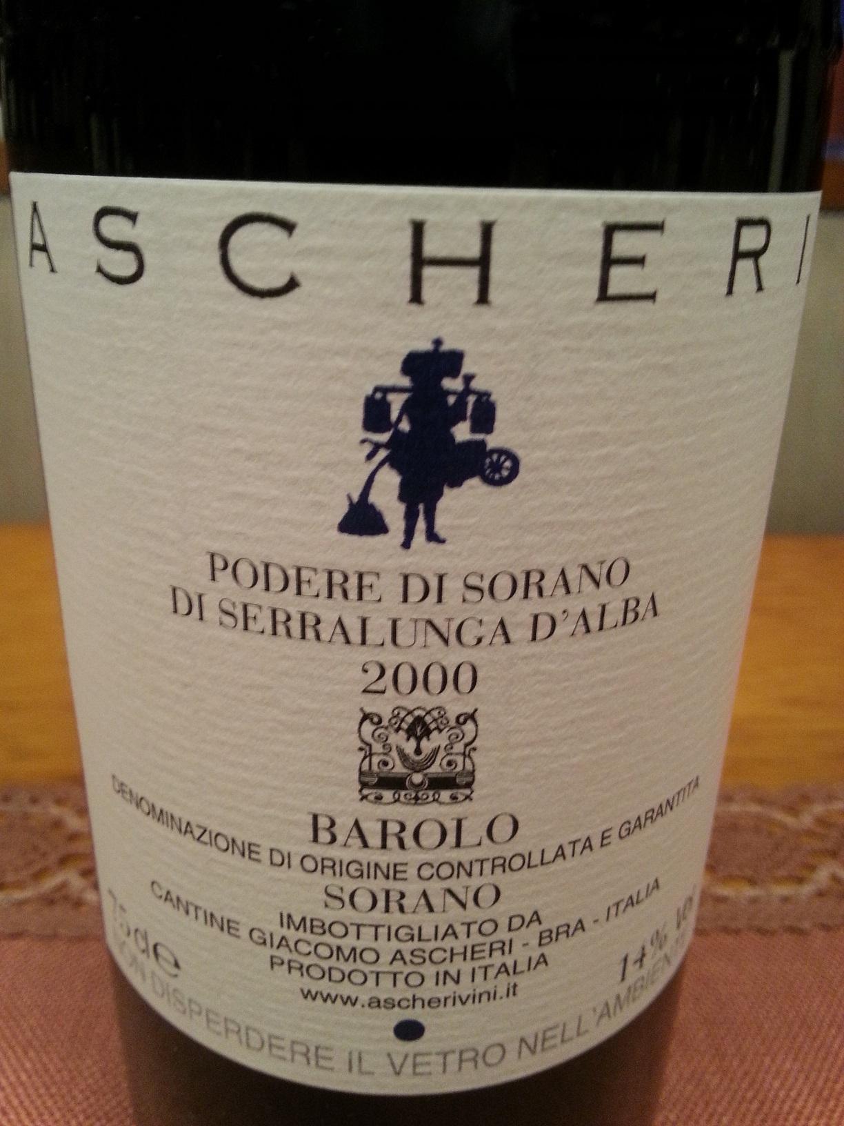 2000 Barolo Sorano | Ascheri