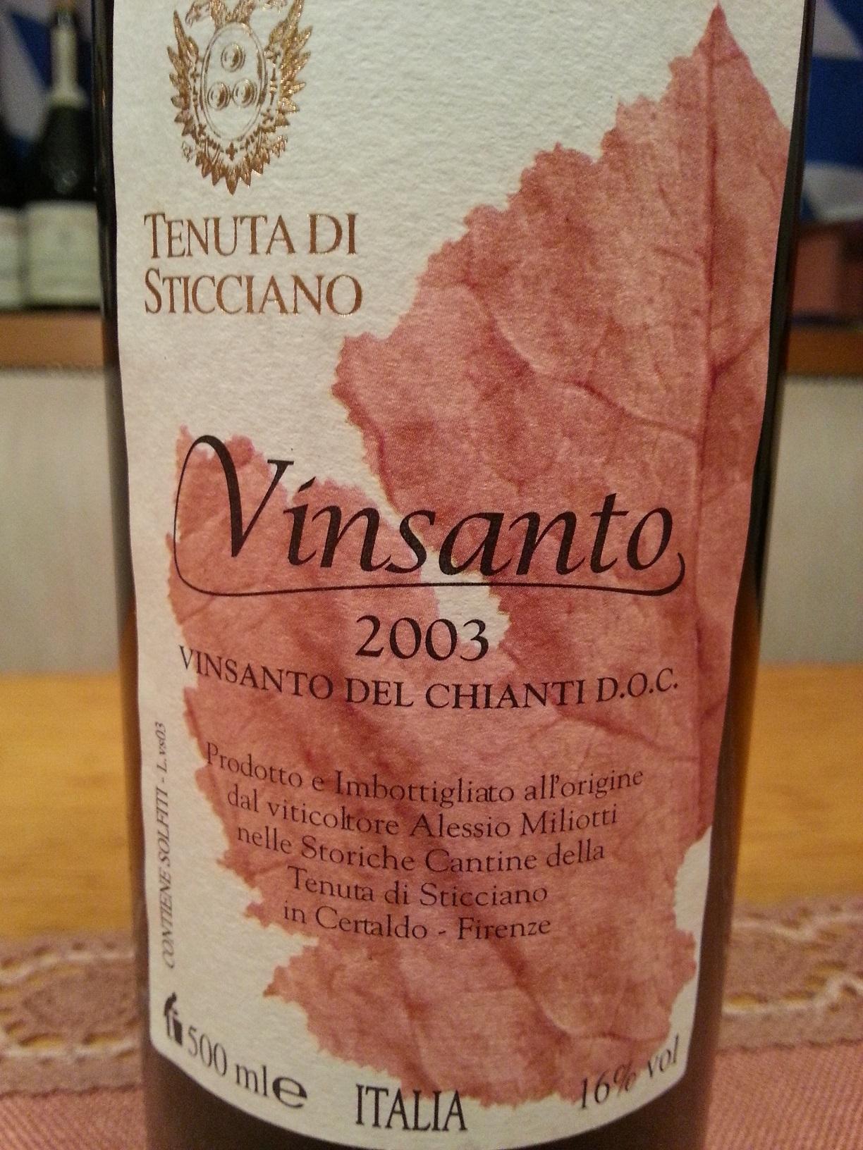 2003 Vinsanto | Sticciano