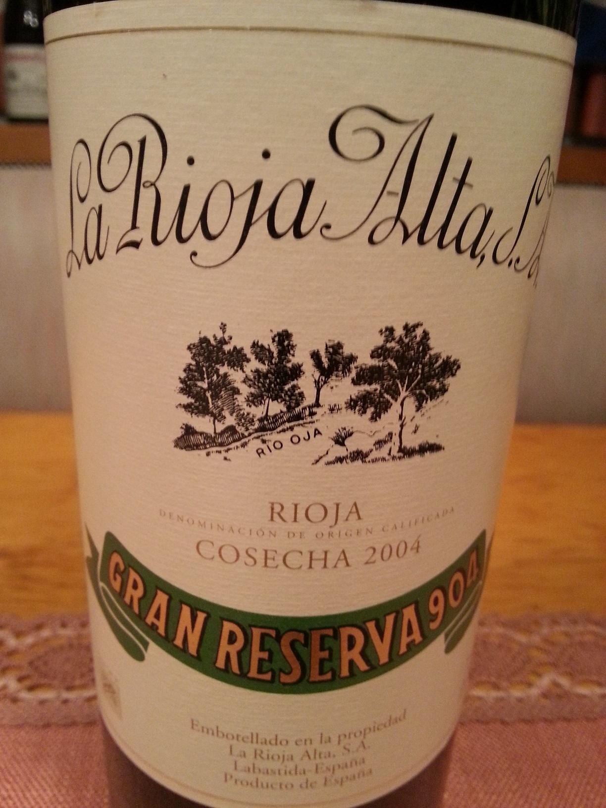 2004 La Rioja Alta Gran Reserva 904 | La Rioja Alta
