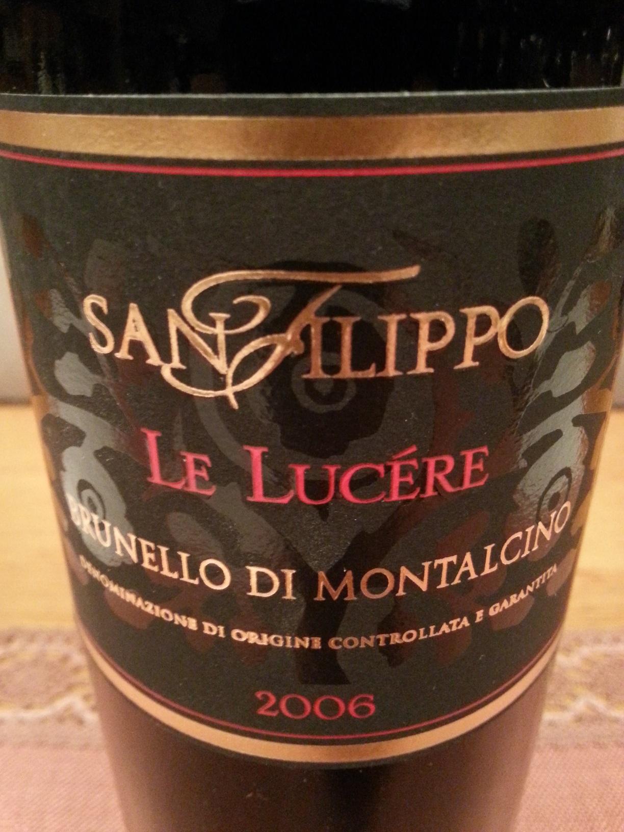 2006 Brunnelo di Montalcino Le Lucére | San Filippo