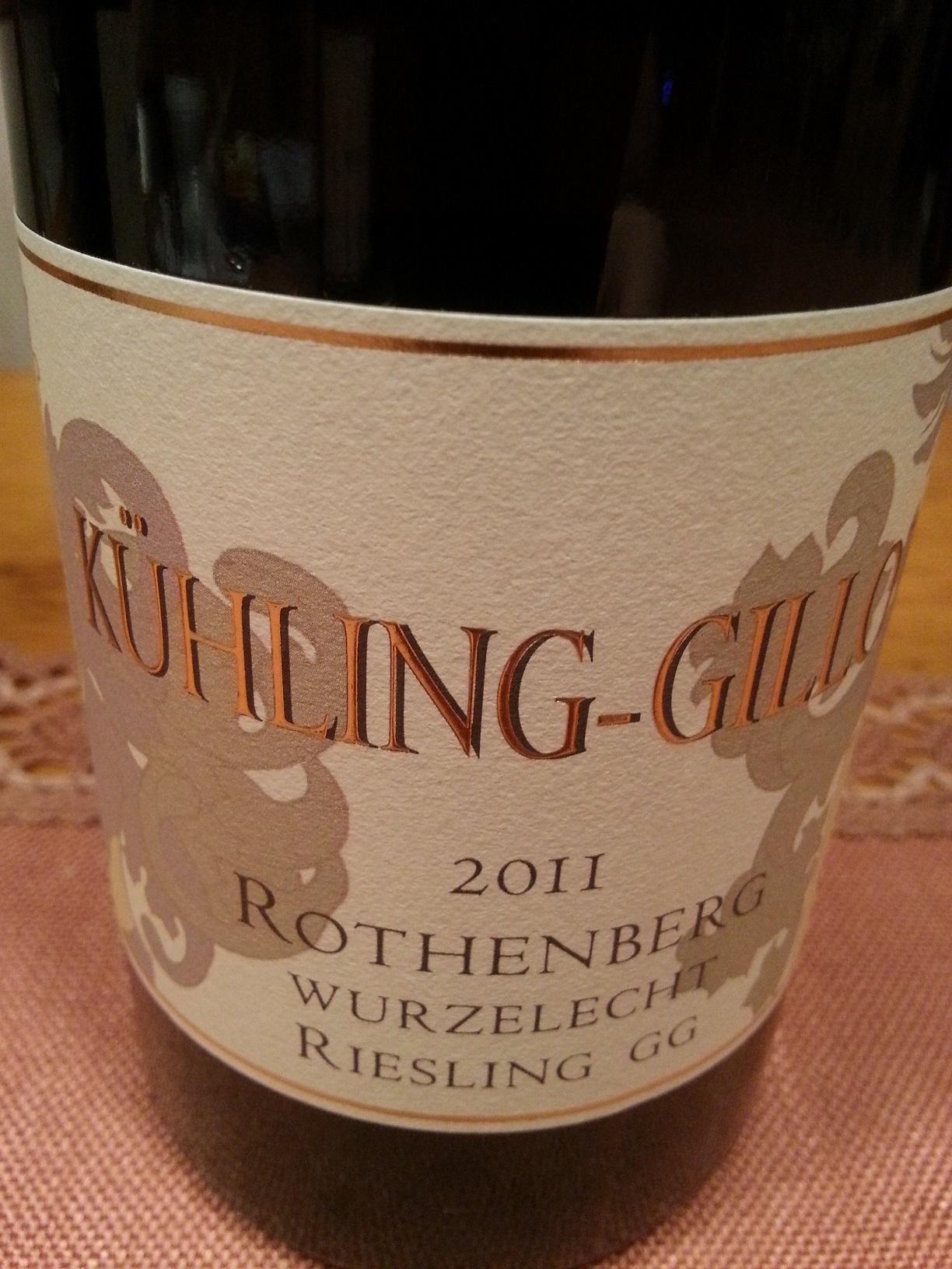 2011 Riesling Rothenberg Wurzelecht GG | Kühling-Gillot
