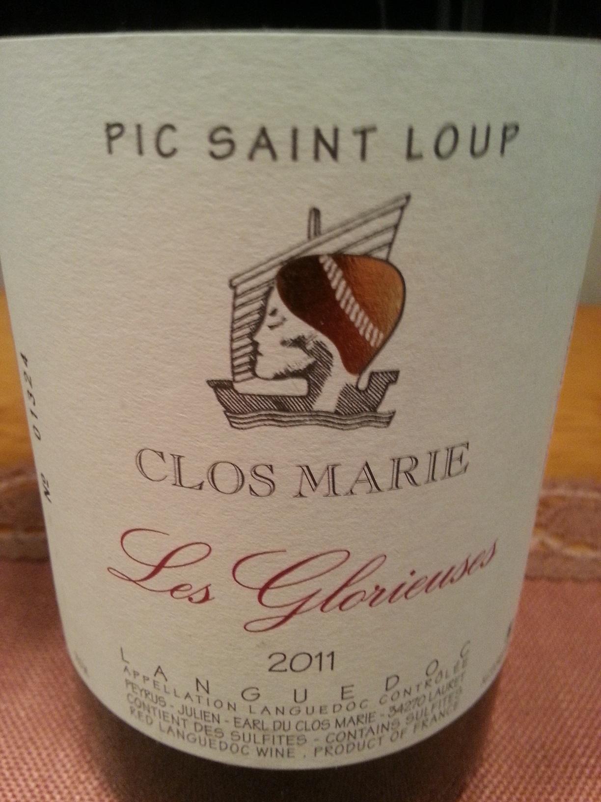 2011 Les Glorieuses Pic Saint Loup | Clos Marie