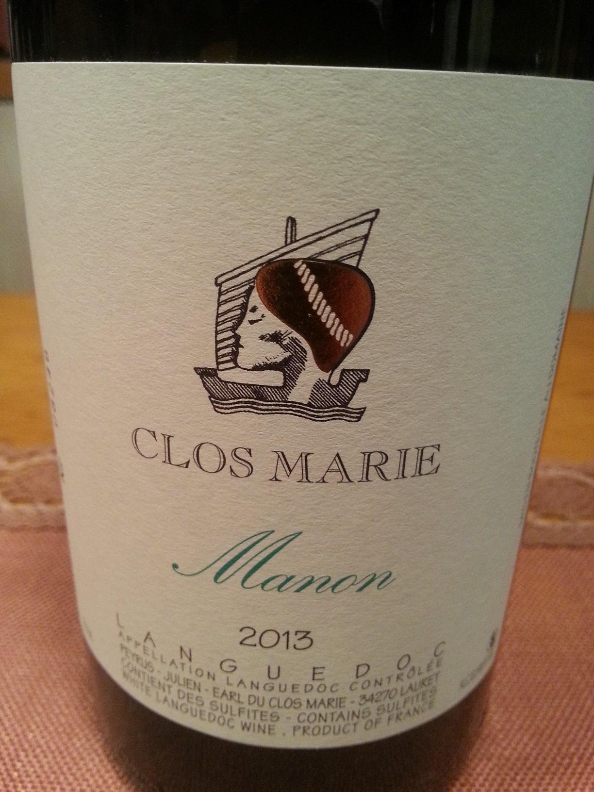 2013 Manon Côteaux de Languedoc | Clos Marie