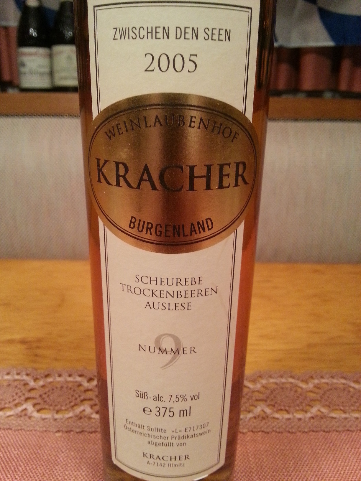 2005 Scheurebe TBA No. 9 ZdS | Kracher