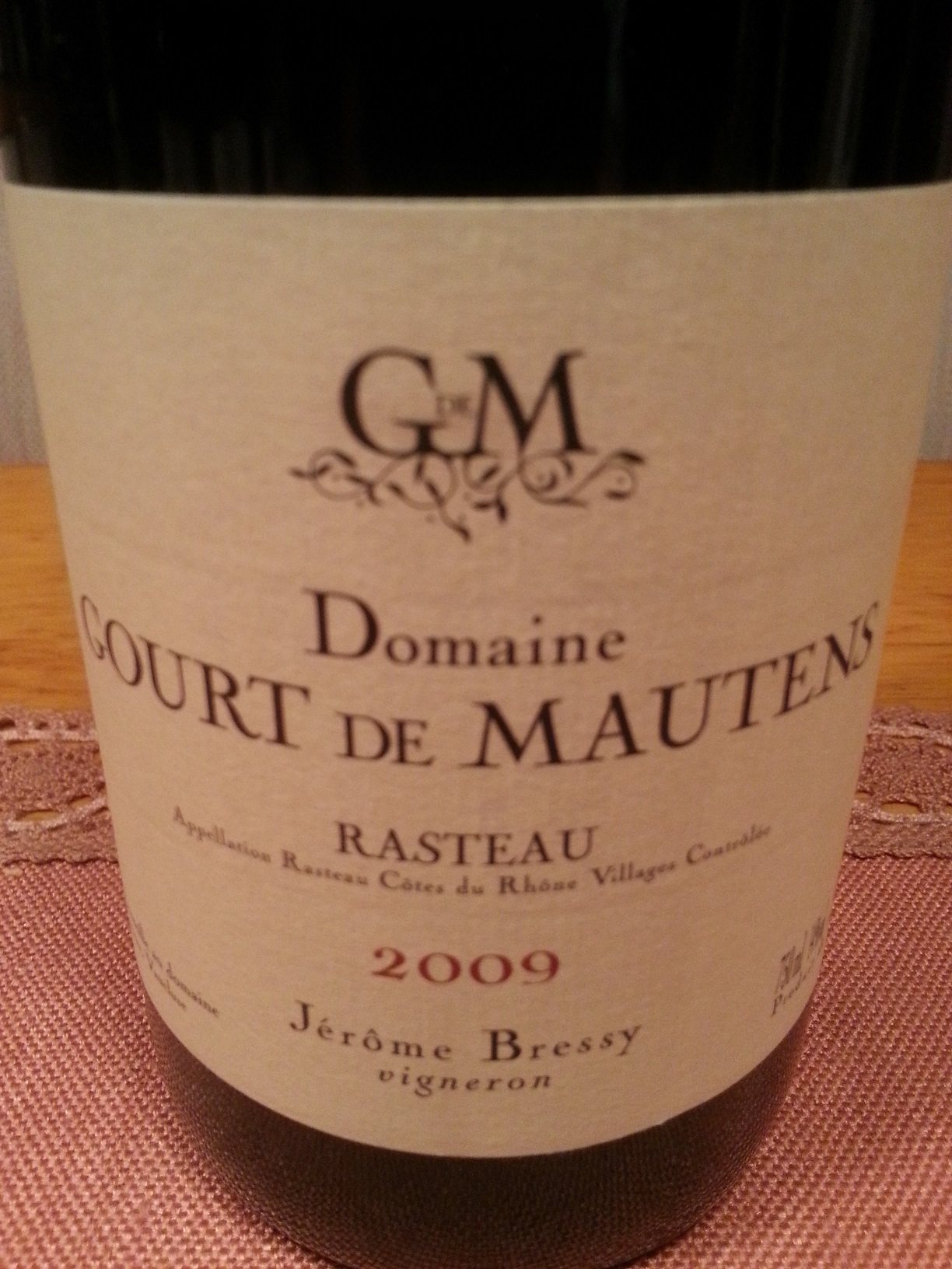 2009 CdR Villages Rasteau | Gourt de Mautens