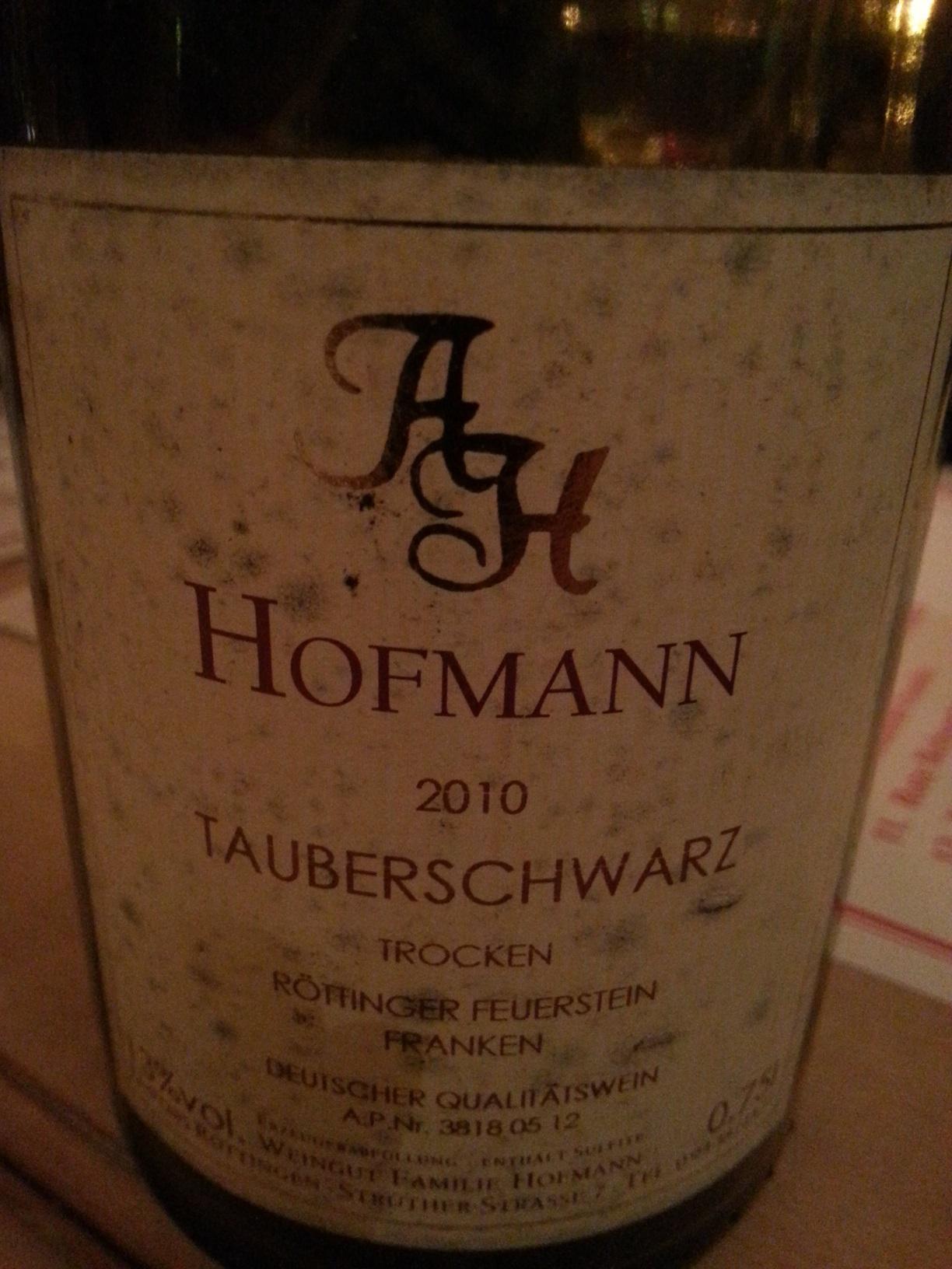 2010 Tauberschwarz | Hofmann