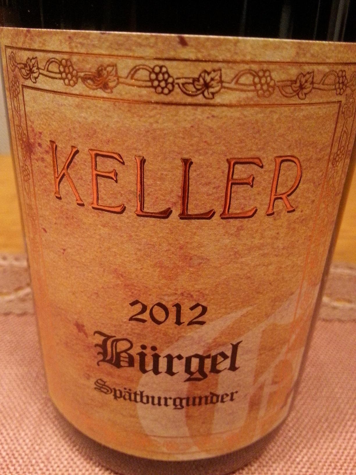 2012 Spätburgunder Bürgel GG | Keller