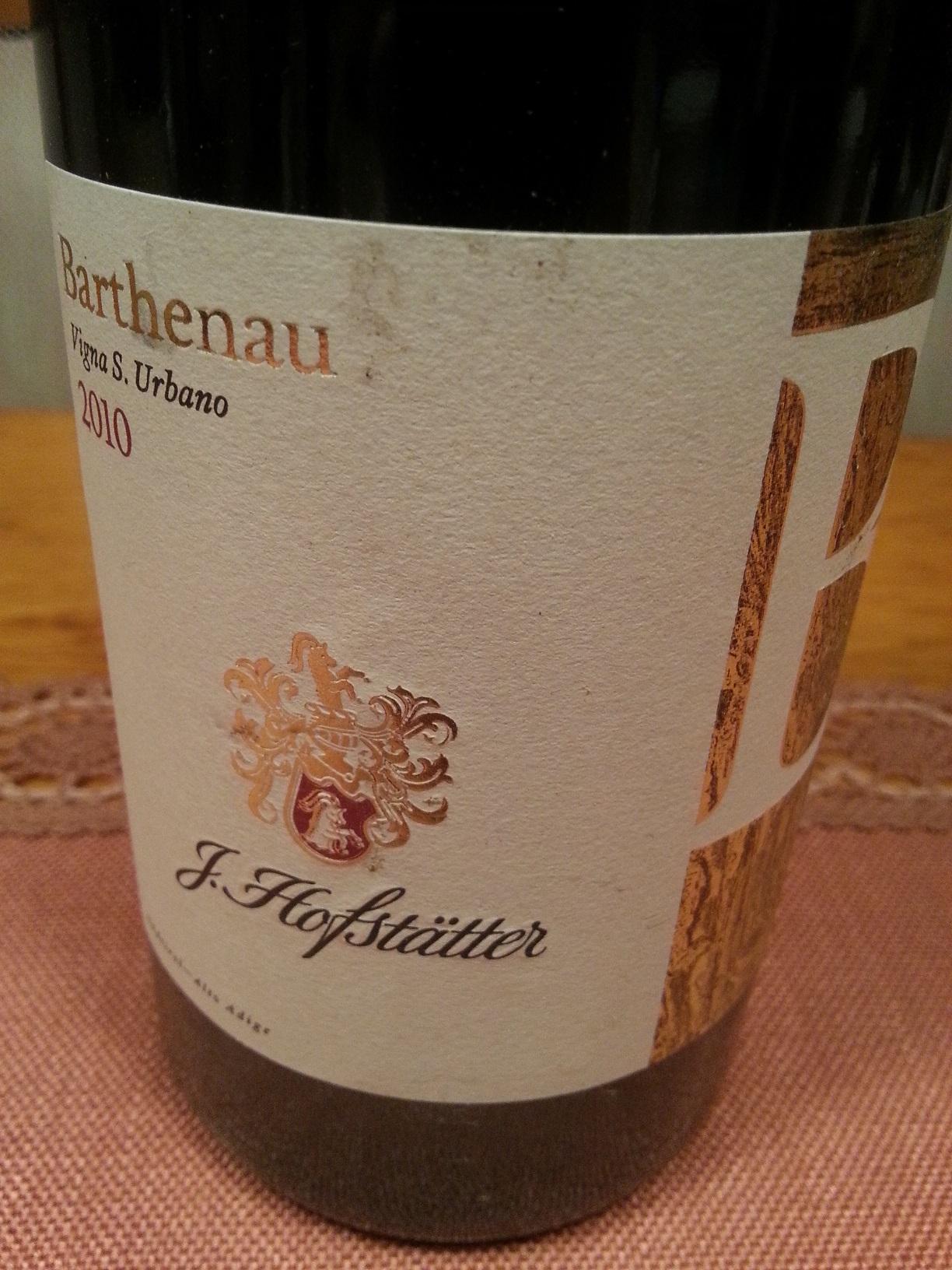 2010 Pinot Nero Barthenau Vigna S. Urbano | Hofstätter
