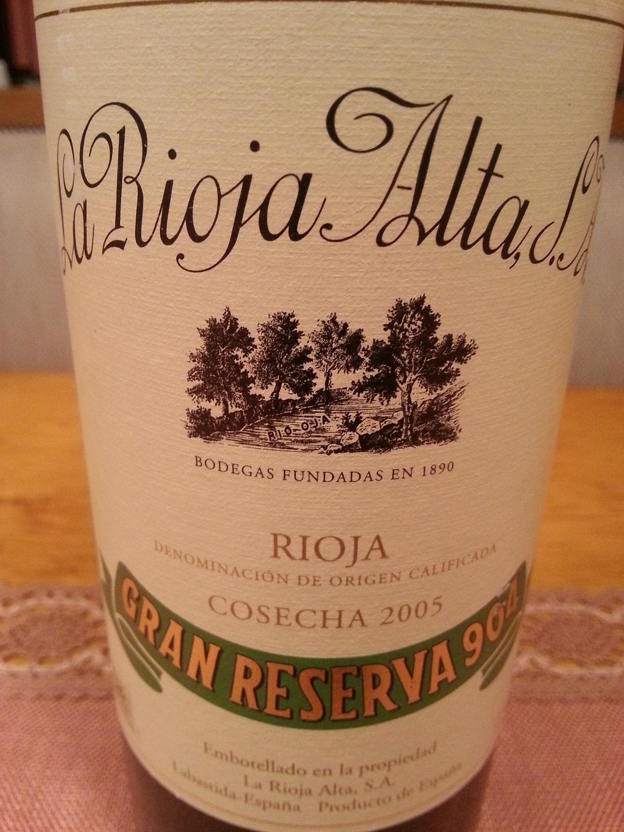 2005 La Rioja Alta Gran Reserva 904 | La Rioja Alta