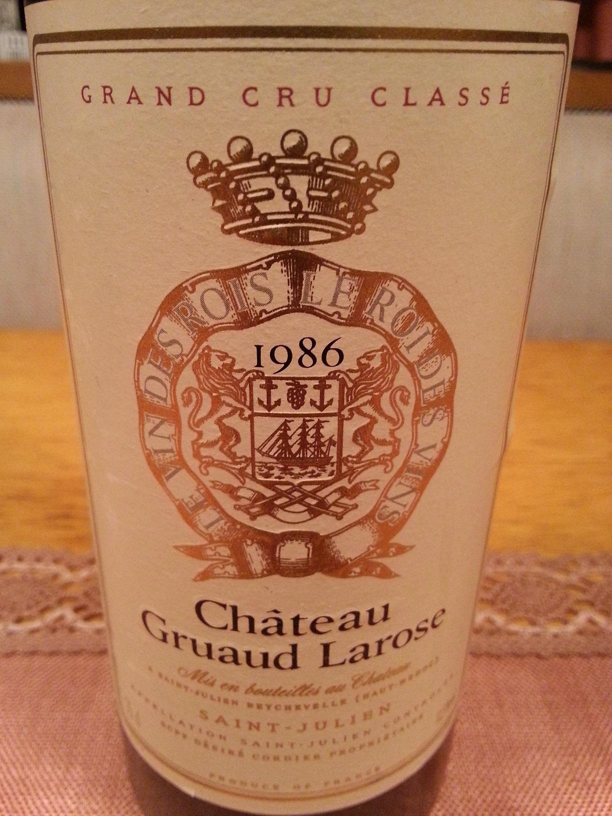 1986 Gruaud-Larose | Château Gruaud-Larose