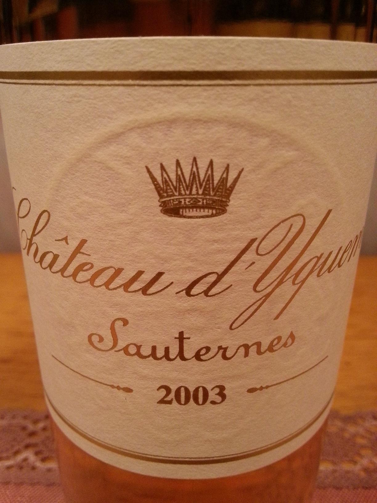 2003 Château d'Yquem | Château d'Yquem