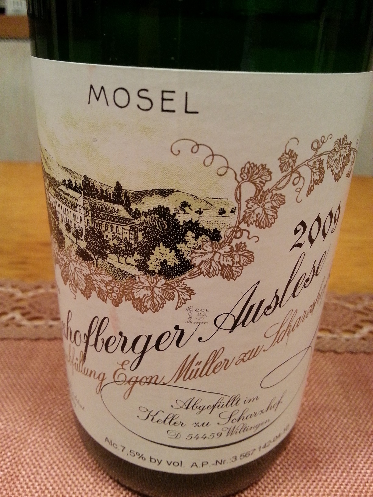 2009 Riesling Auslese Scharzhofberg | Egon Müller