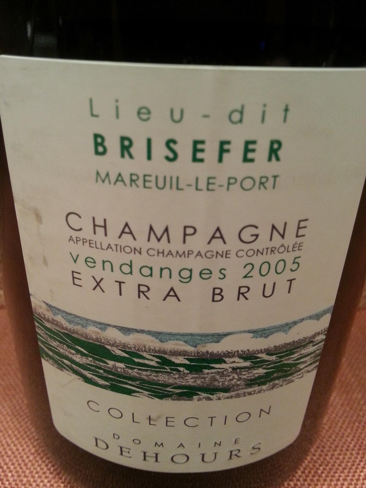 2005 Champagne Brisefer Extra Brut | Dehours