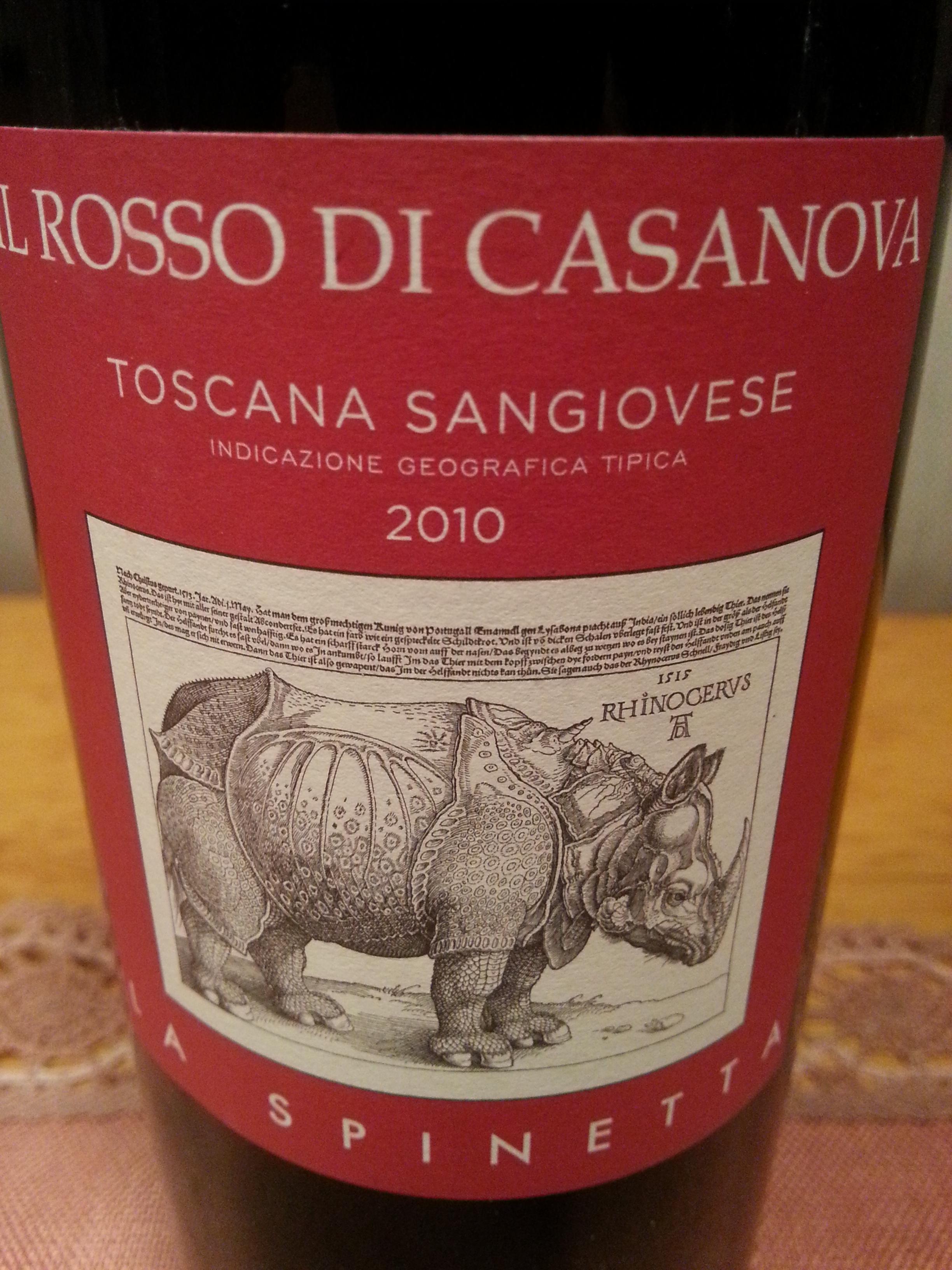 2010 Il Rosso di Casanova | La Spinetta