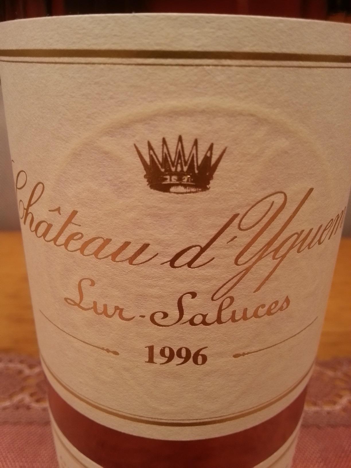 1996 Château d'Yquem | Château d'Yquem