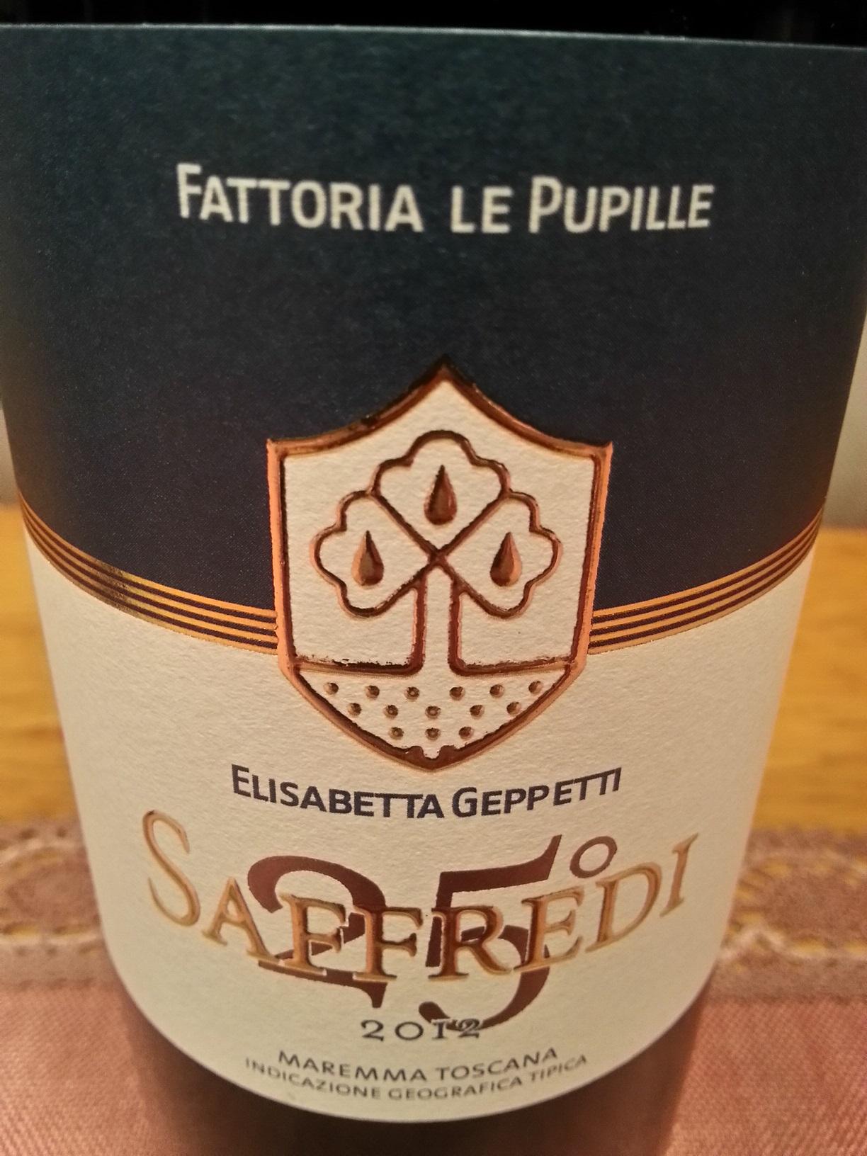 2012 Saffredi | Le Pupile