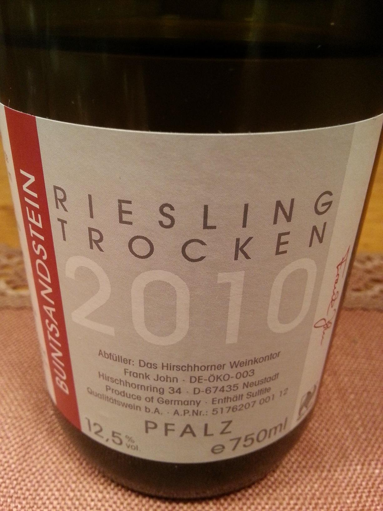 2010 Riesling Buntsandstein | Hirschhorner Hof