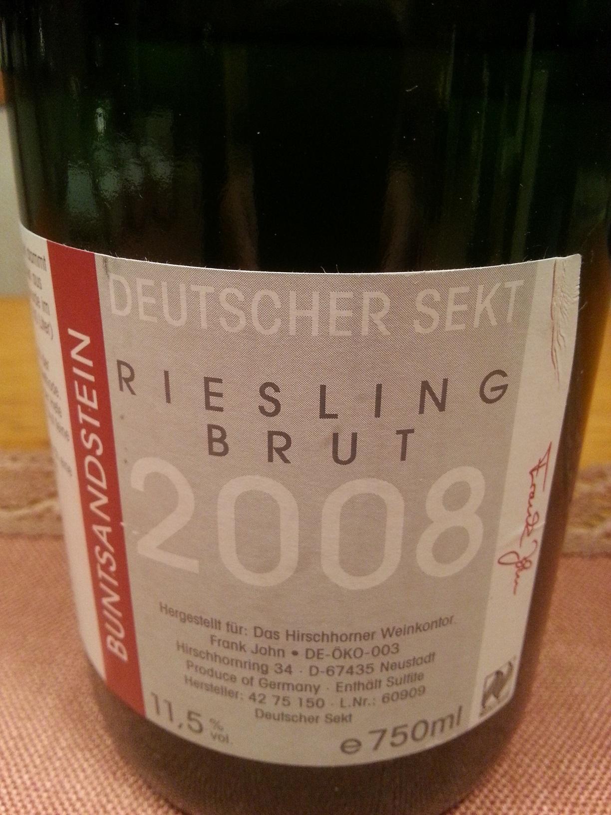 2008 Riesling Sekt brut | Hirschhorner Hof