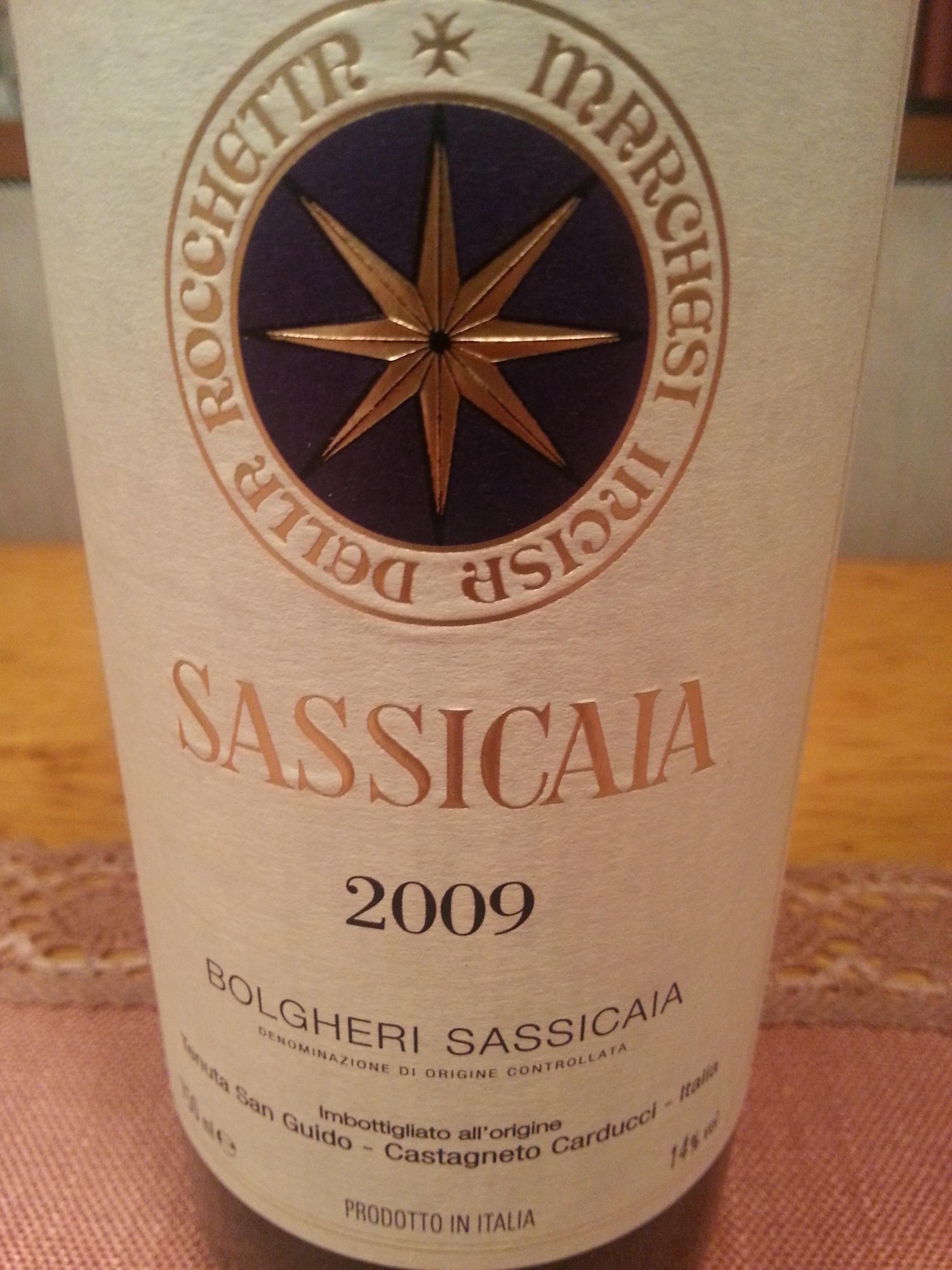 2009 Sassicaia | Tenuta San Guido