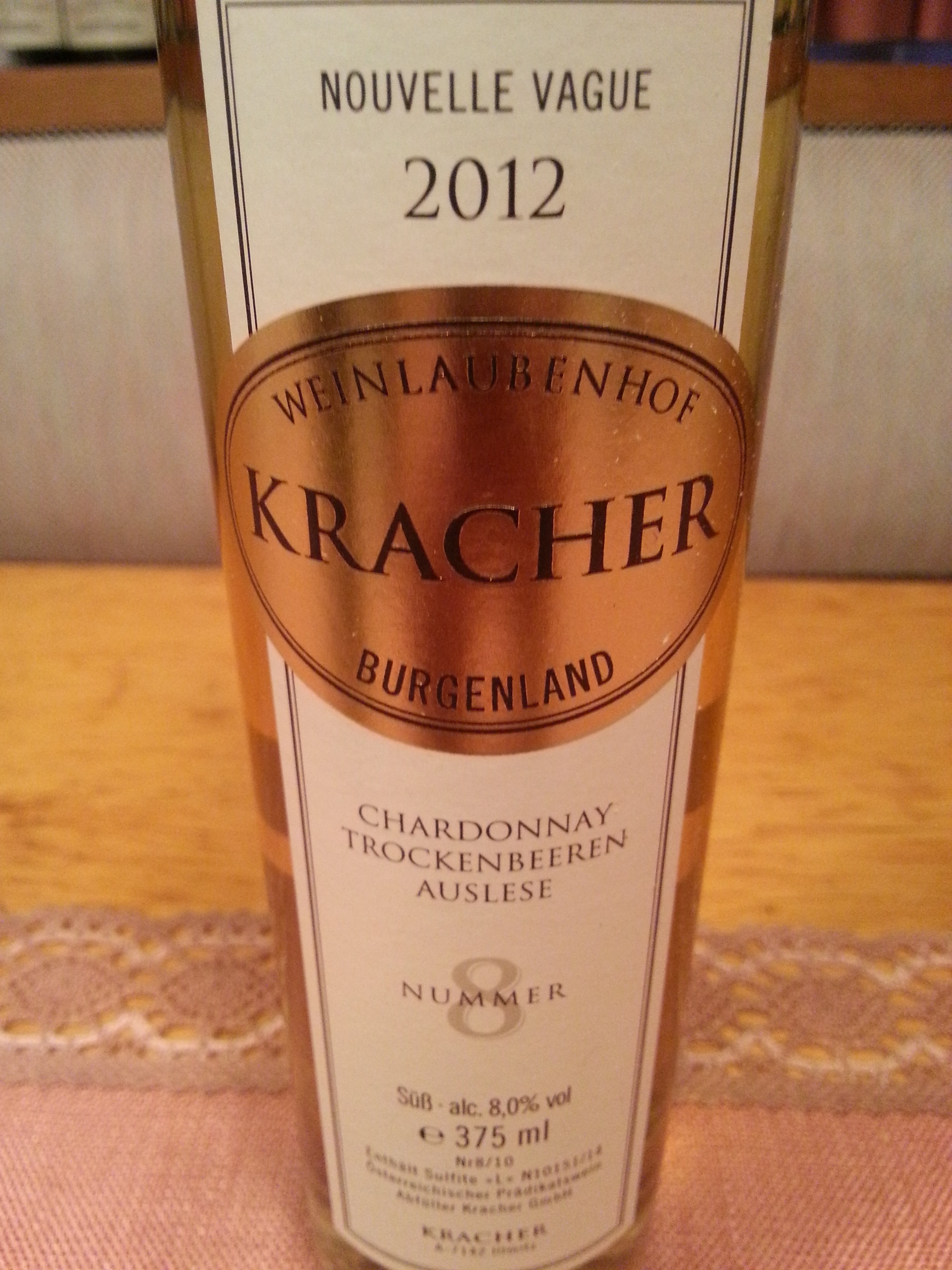 2012 TBA No. 8 Chardonnay Nouvelle Vague | Kracher