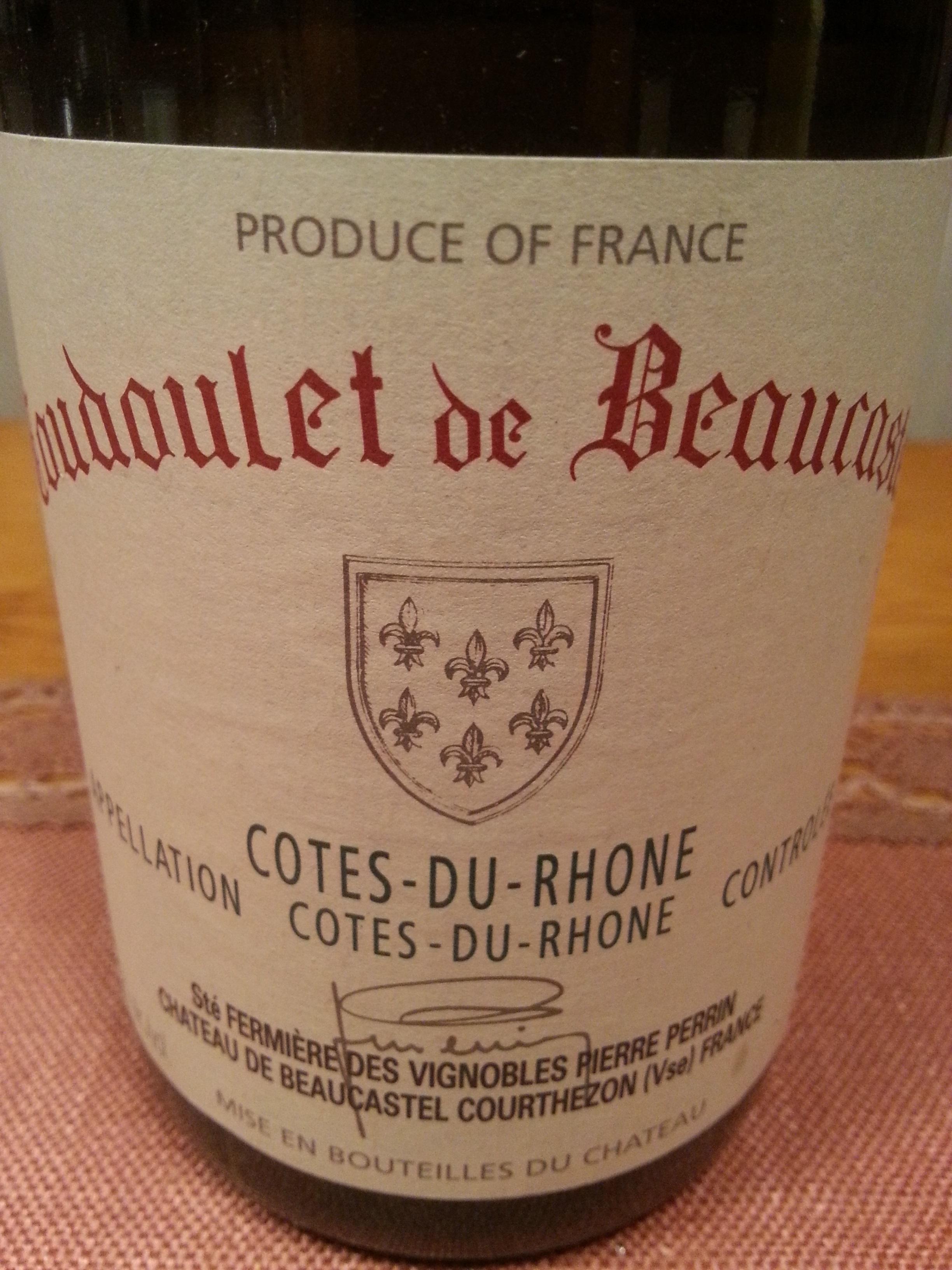 2006 Coudoulet blanc | Beaucastel