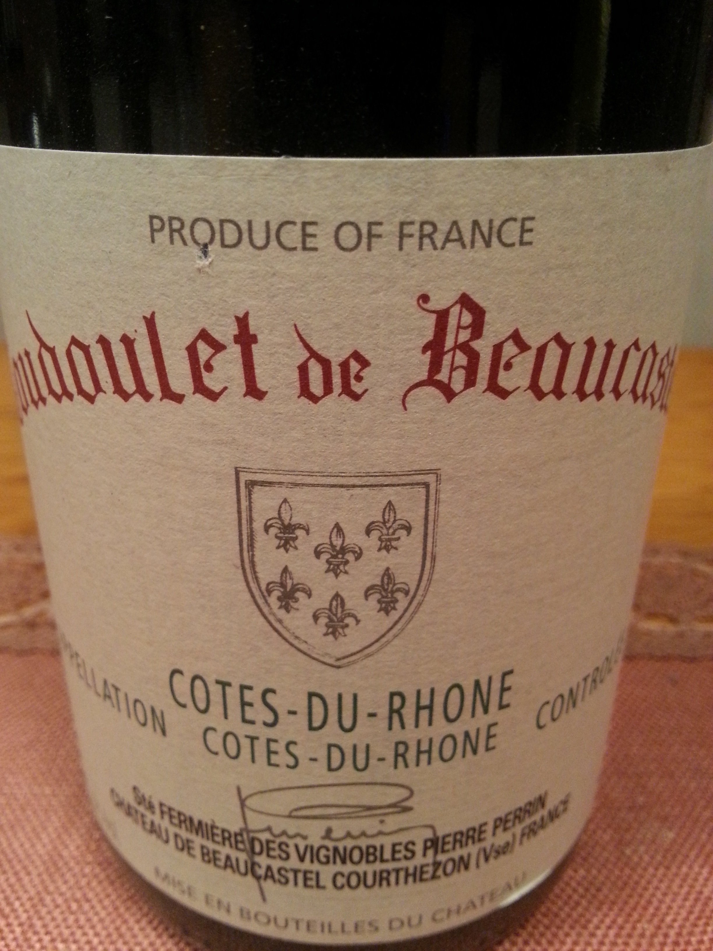 2007 Coudoulet rouge | Beaucastel