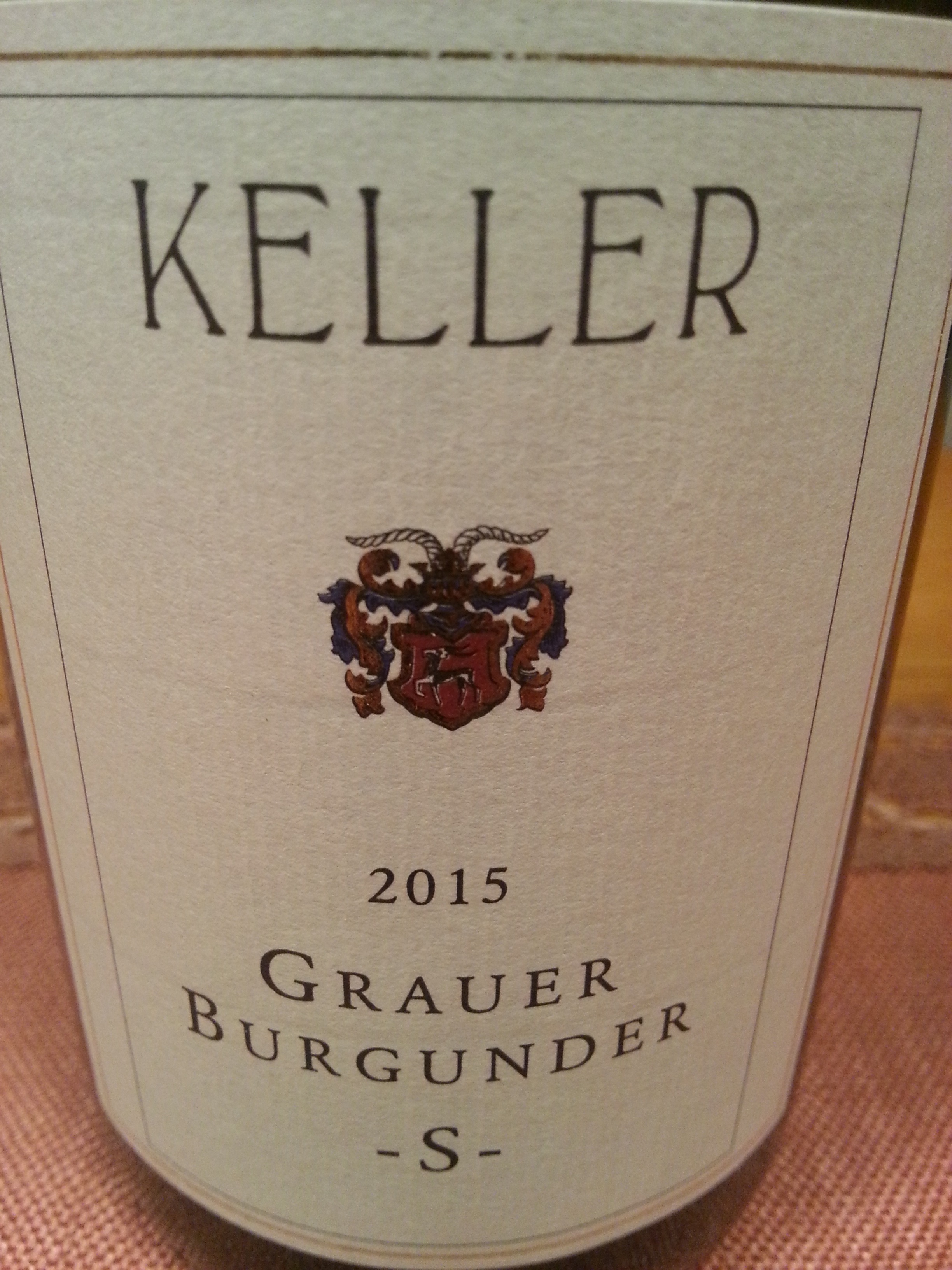 2015 Grauer Burgunder S | Keller