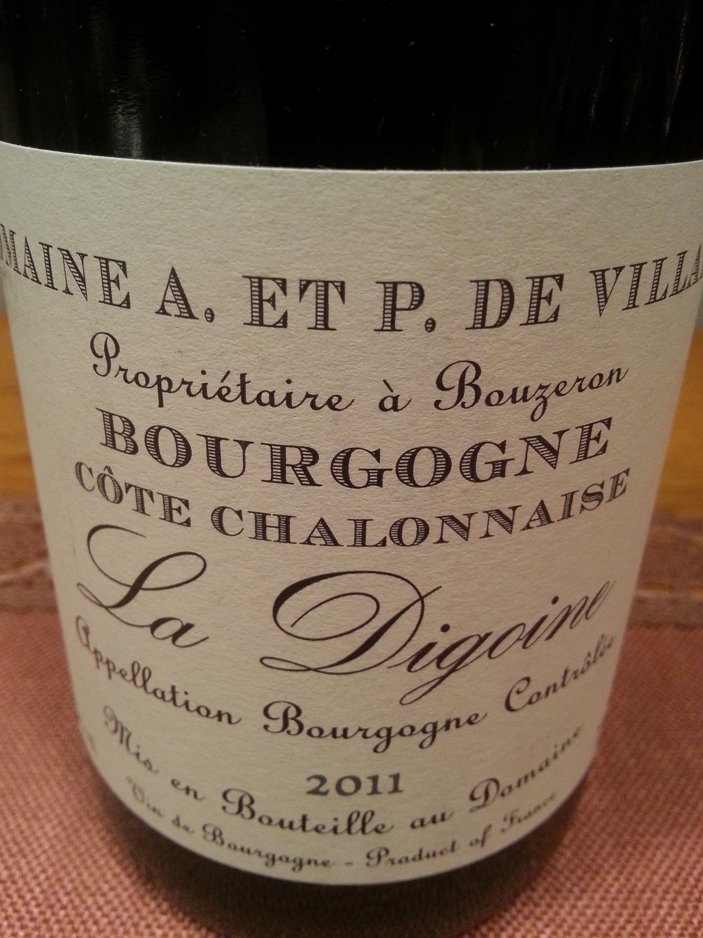 2011 La Digoine | de Villaine
