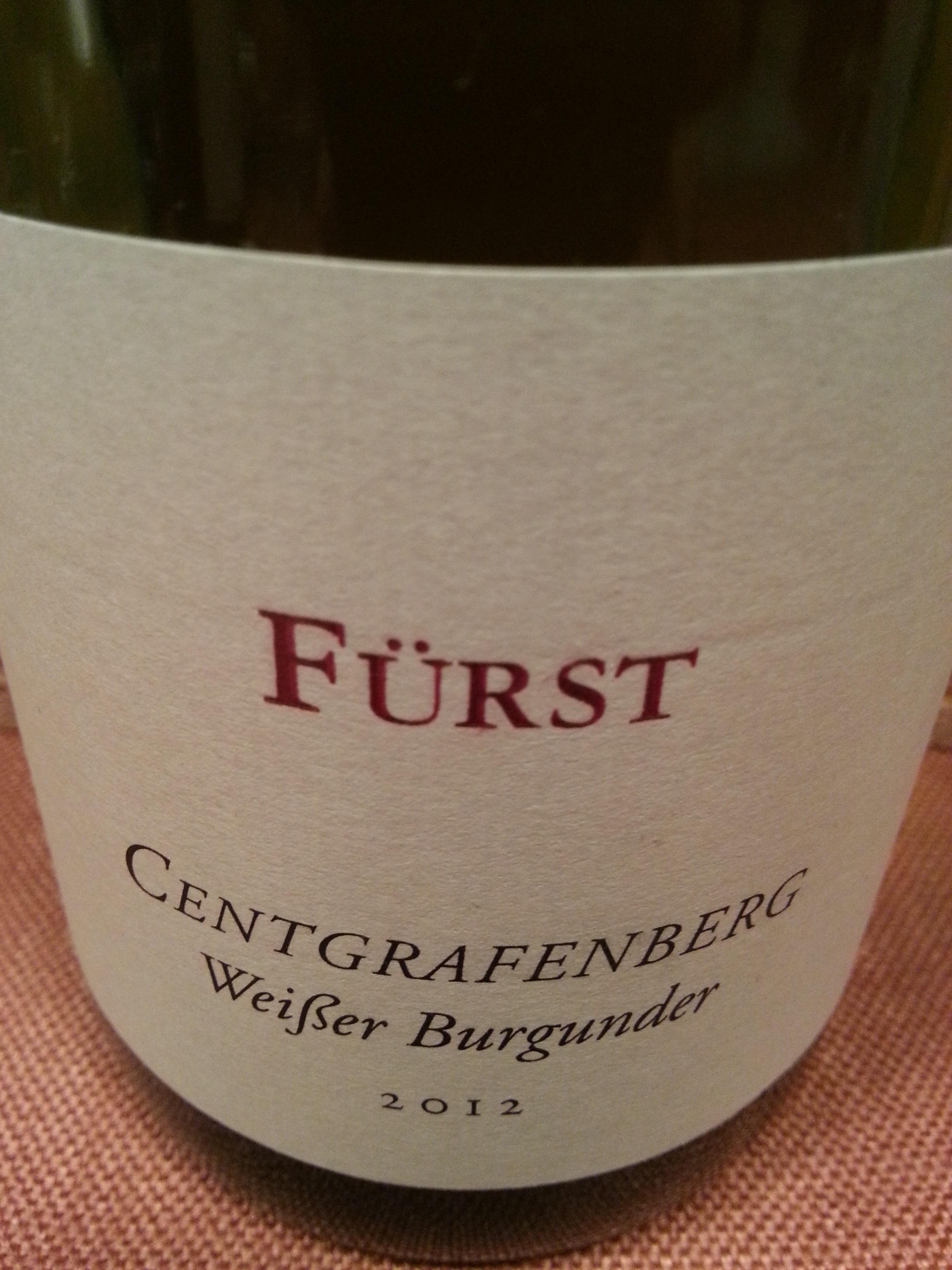2012 Weißburgunder Centgrafenberg | Fürst