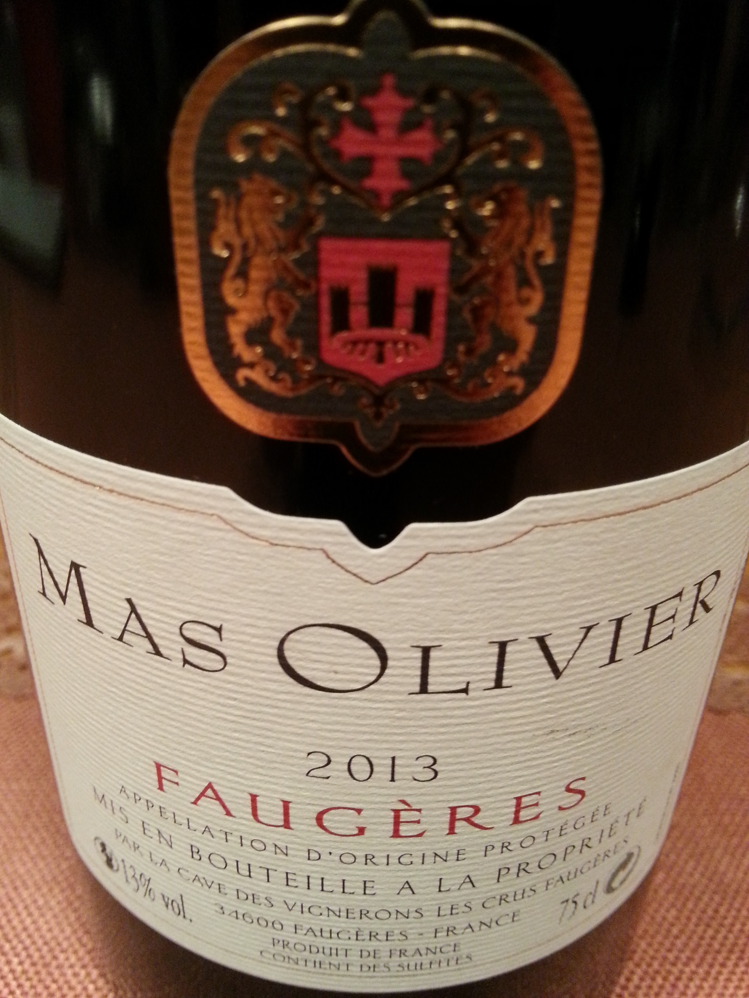 2013 Mas Olivier Faugères Rouge | Mas Olivier