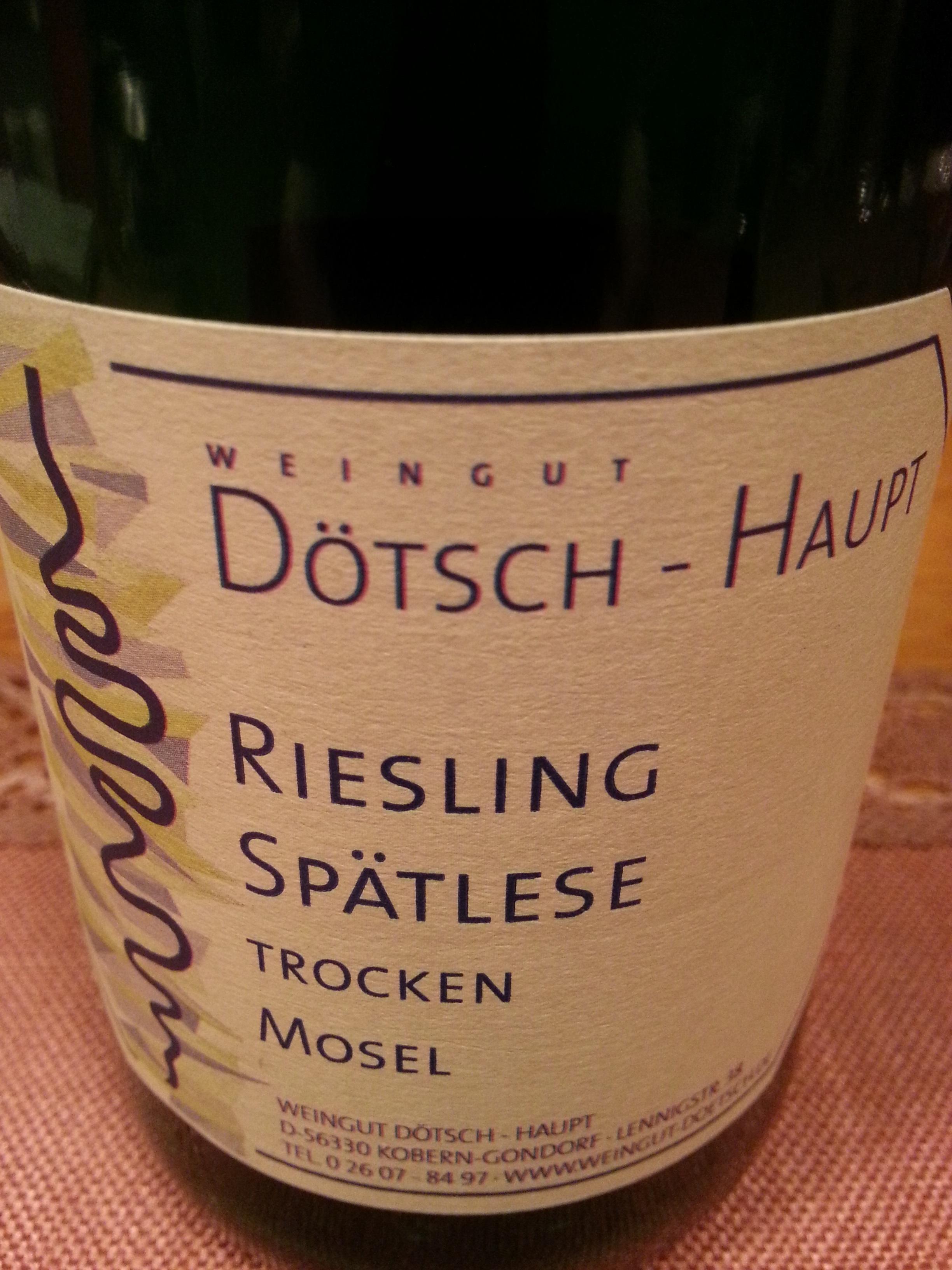 2008 Riesling Spätlese trocken Koberner Uhlen | Dötsch-Haupt