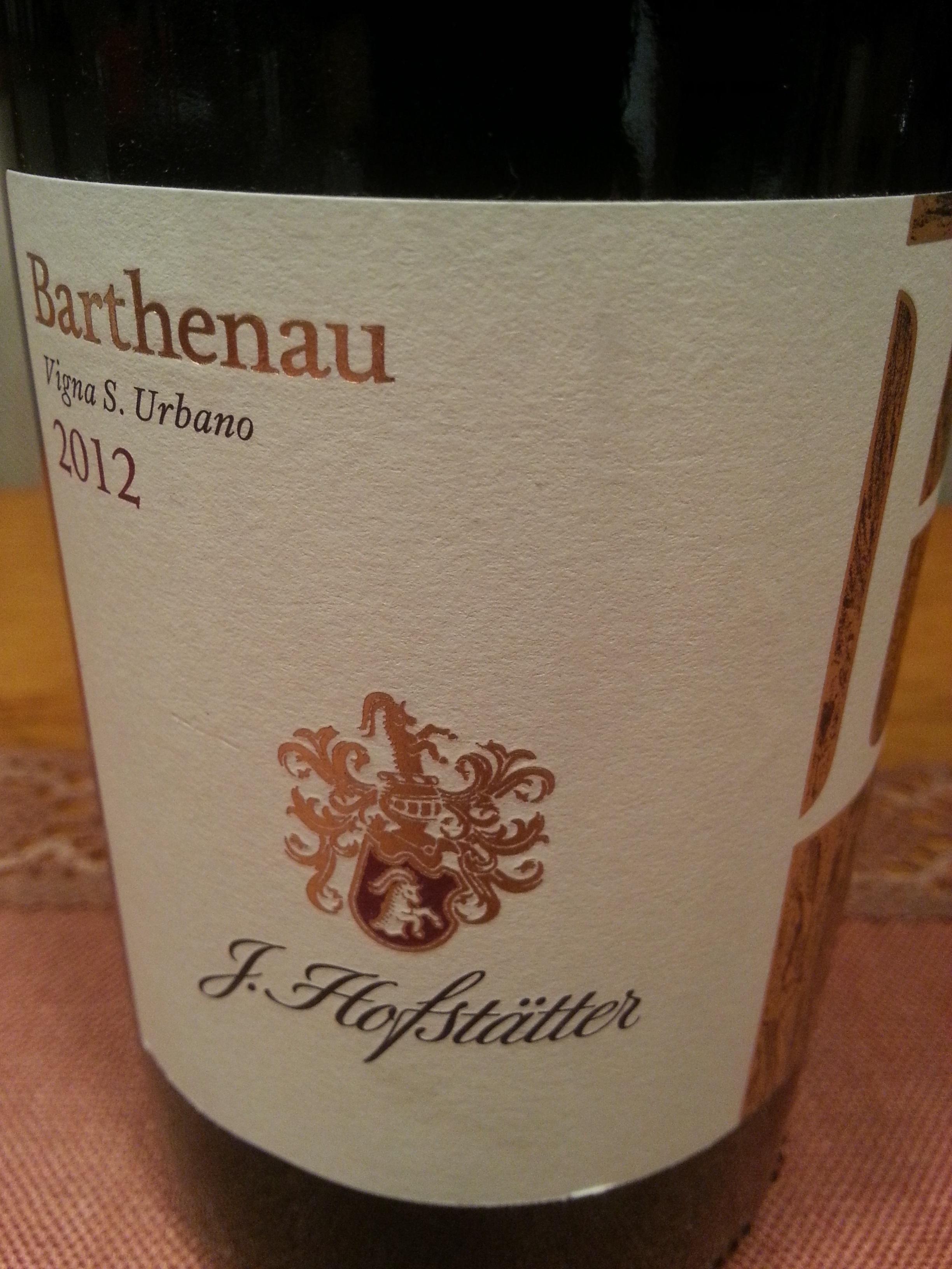 2012 Pinot Nero Barthenau Vigna S. Urbano | Hofstätter