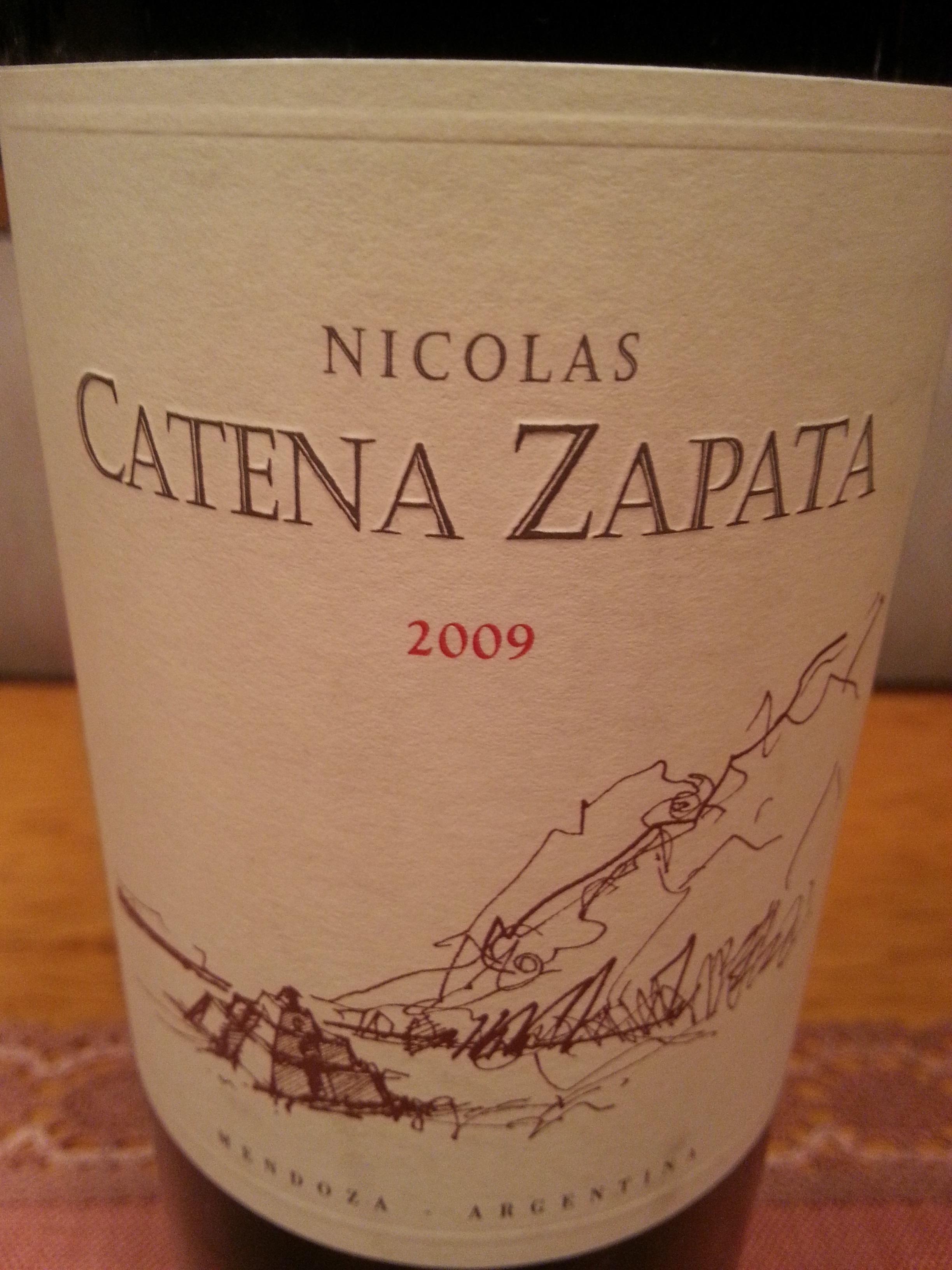2009 Nicolas Catena Zapata | Catena Zapata