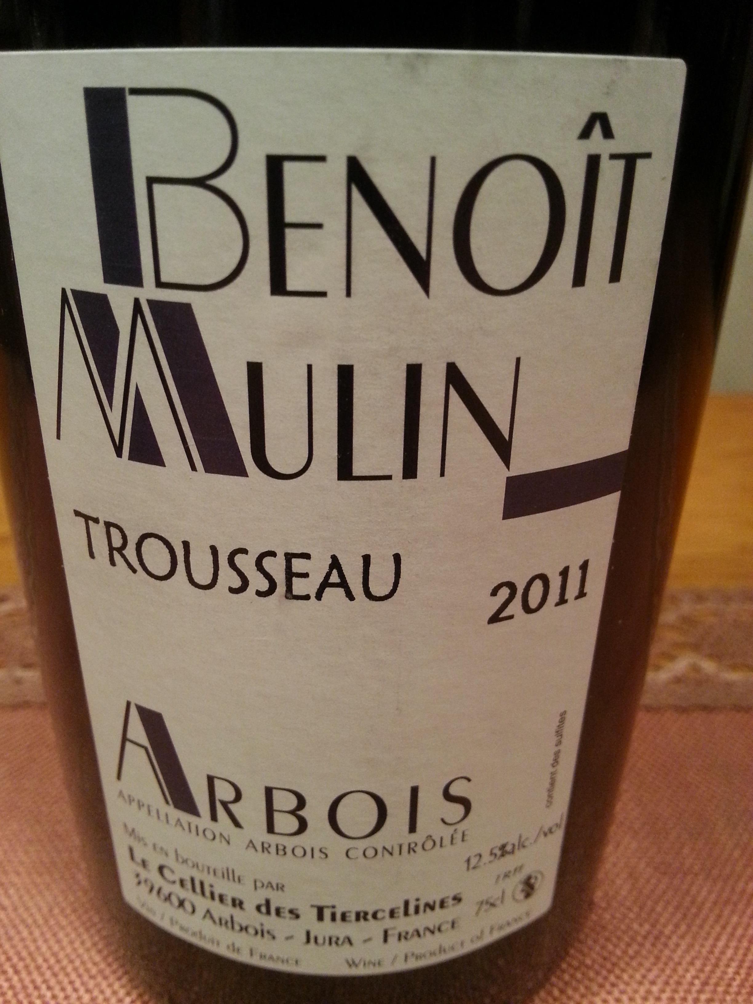 2011 Trousseau Arbois | Benoît Mulin