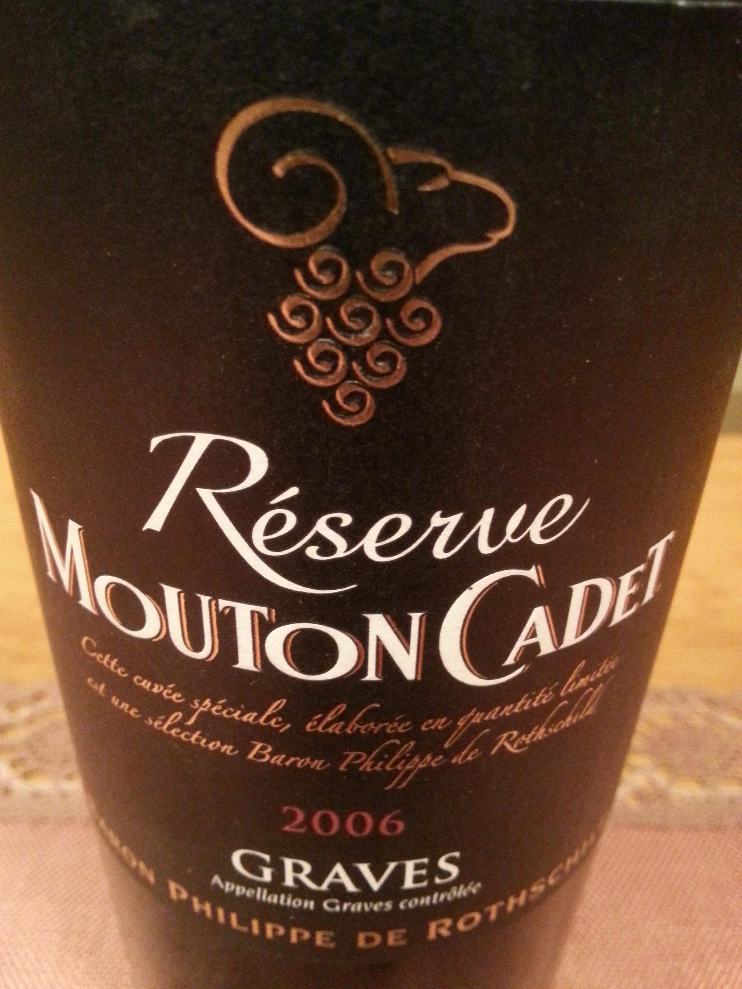 2006 Mouton Cadet Réserve Graves | Baron Philippe de Rothschild