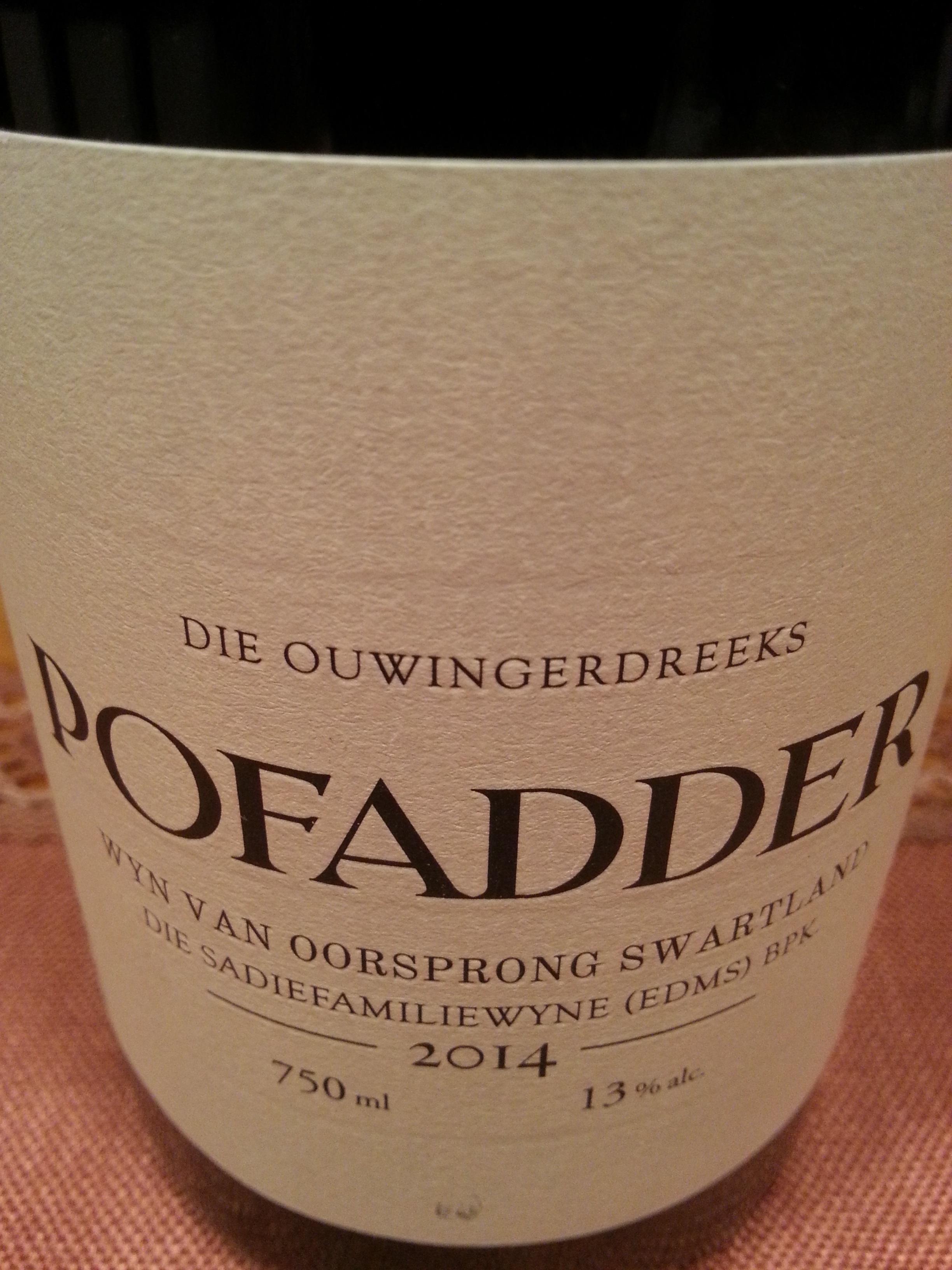 2014 Pofadder | Sadie
