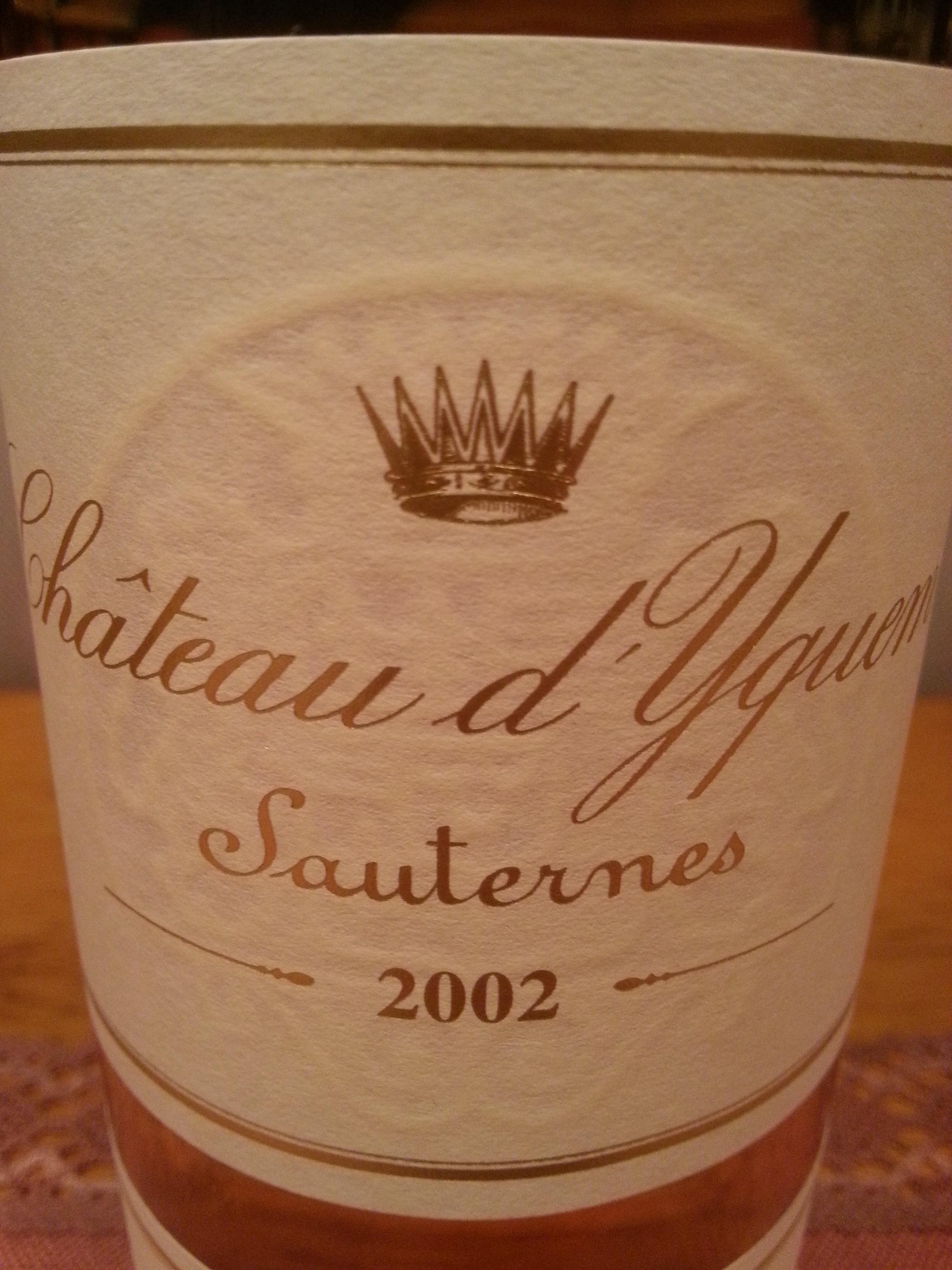 2002 Yquem   Château d'Yquem