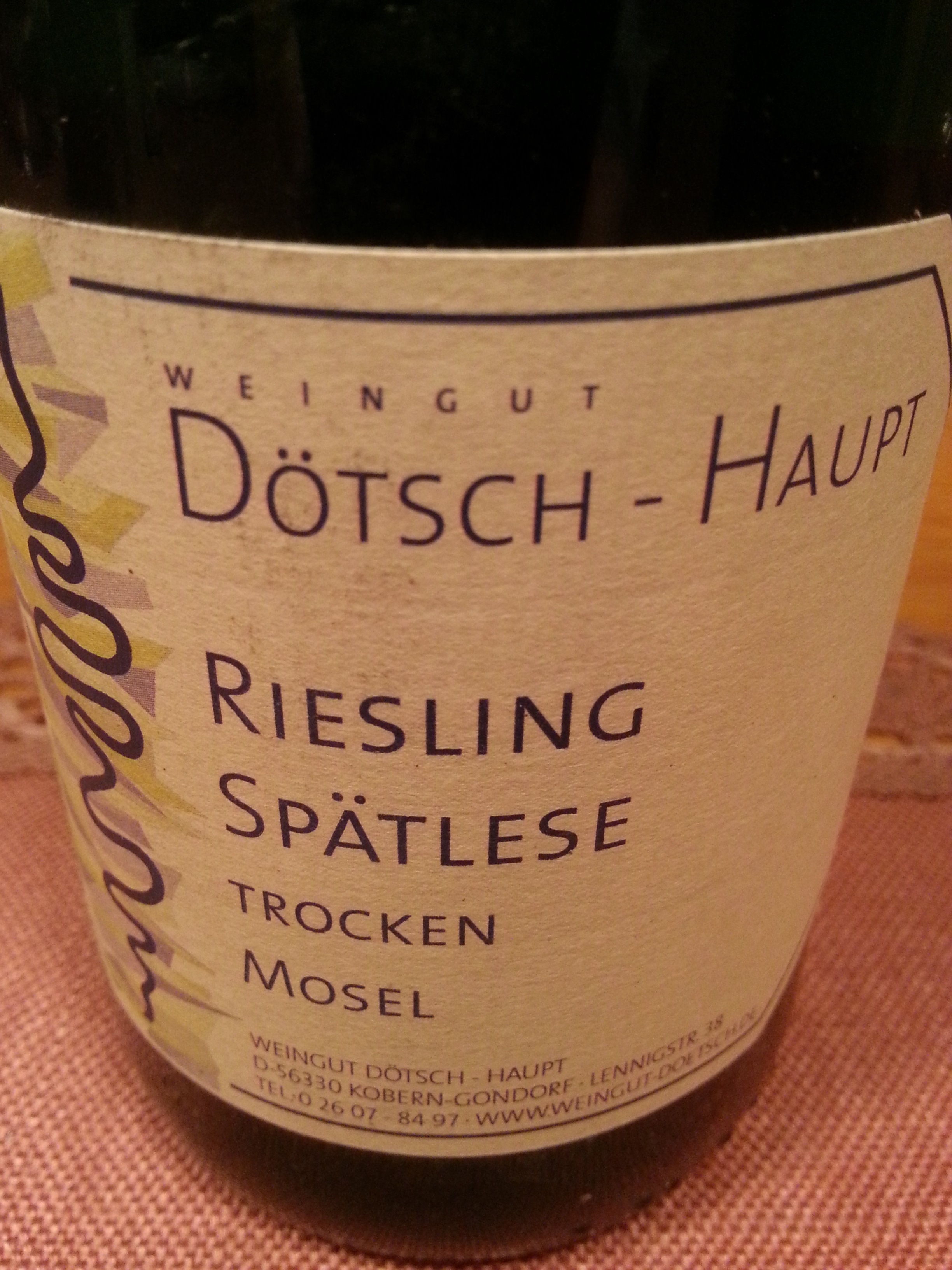 2005 Riesling Spätlese trocken Koberner Uhlen | Dötsch-Haupt