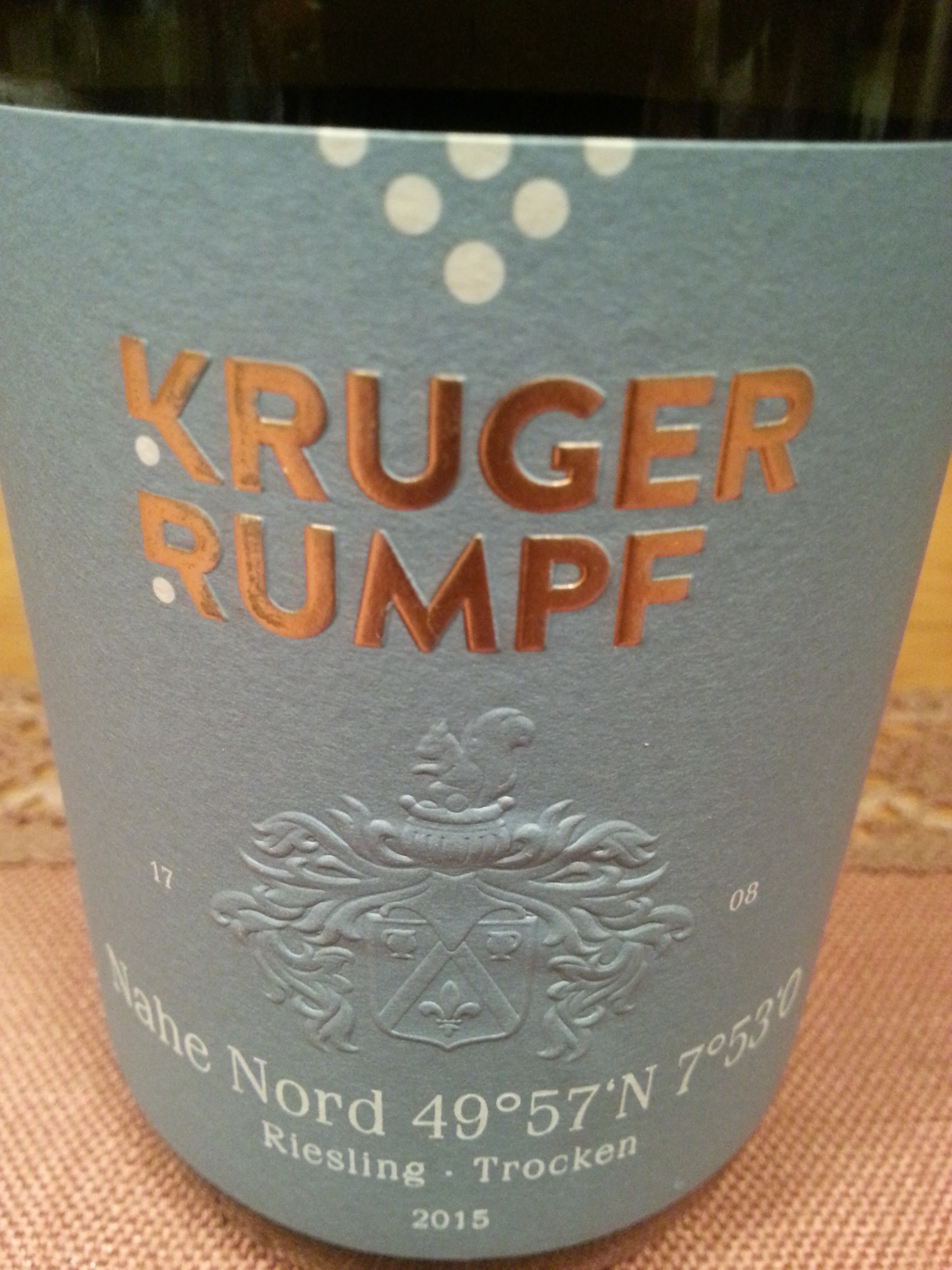 2015 Riesling Nahe Nord | Kruger Rumpf