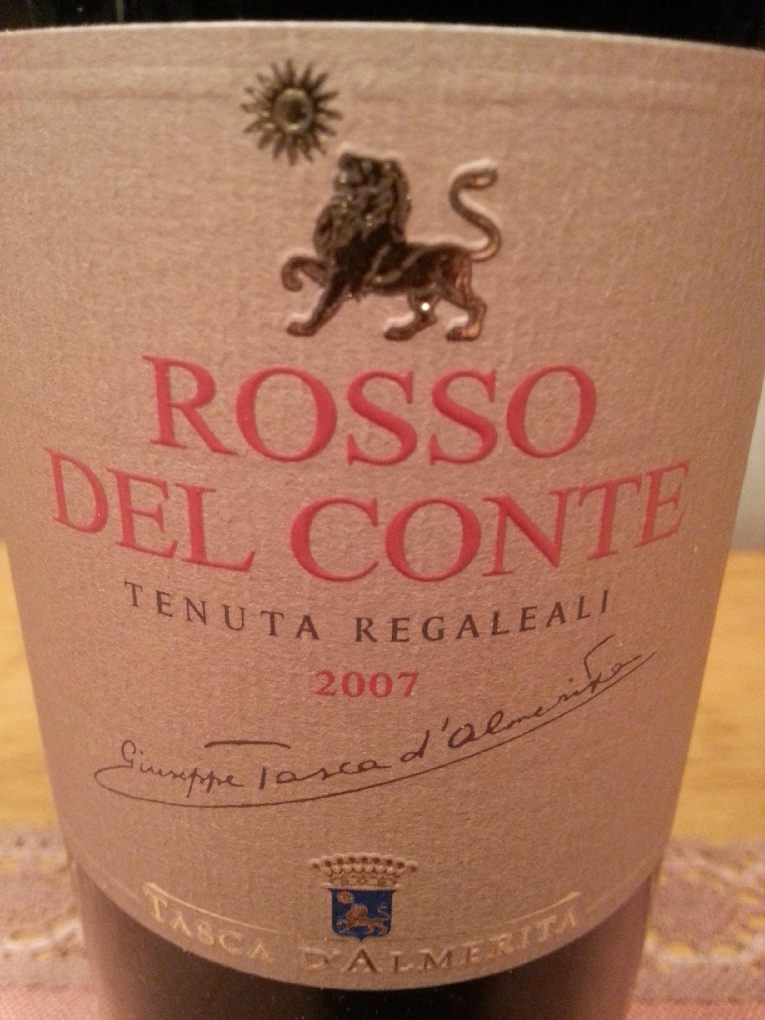 2007 Rosso del Conte | Tasca d'Almerita