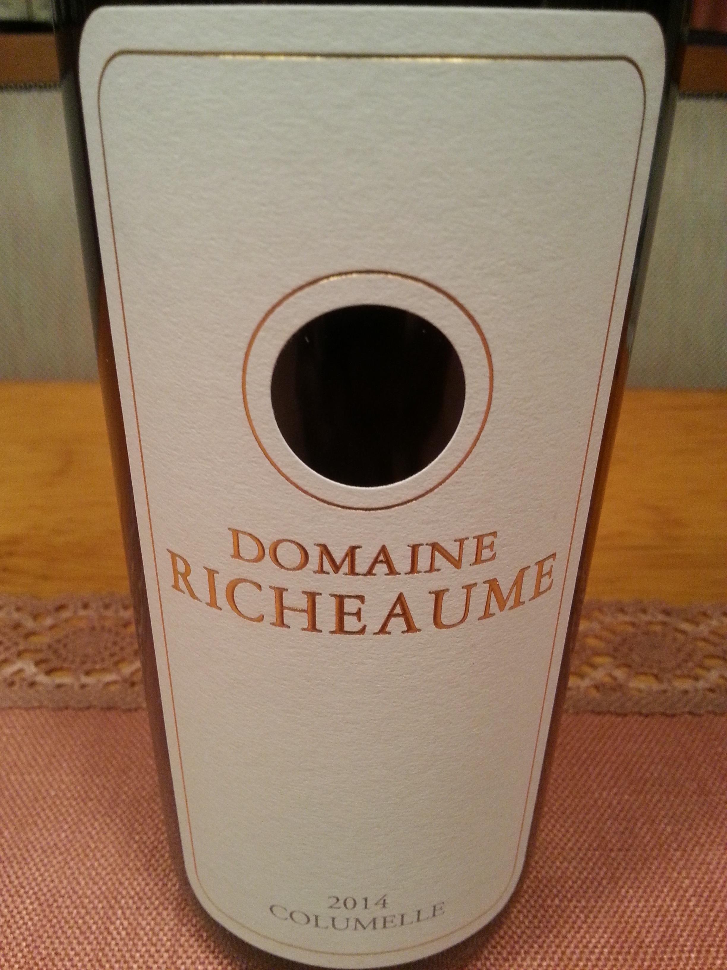 2014 Columelle   Domaine Richeaume