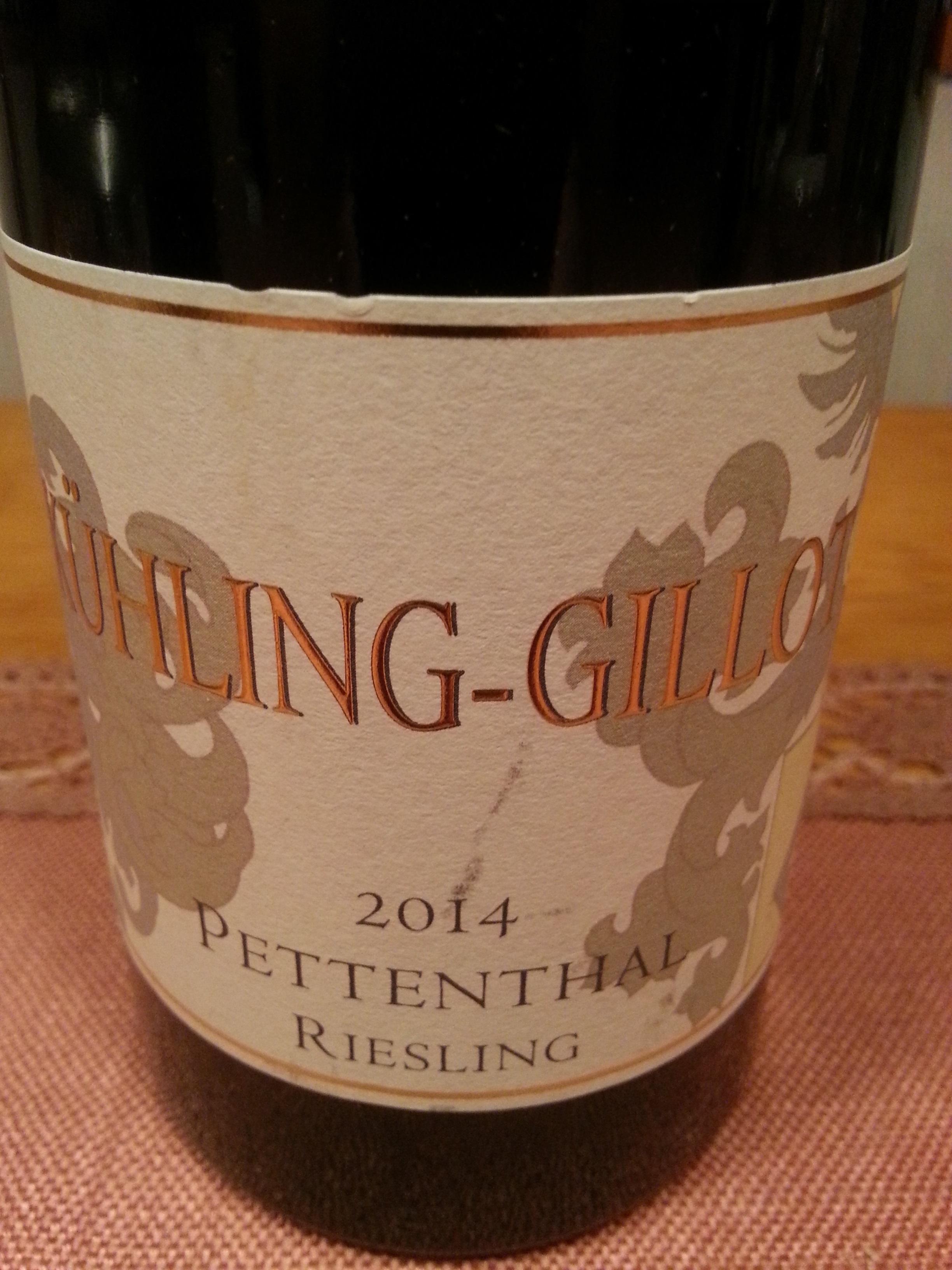 2014 Riesling Pettenthal GG   Kühling-Gillot